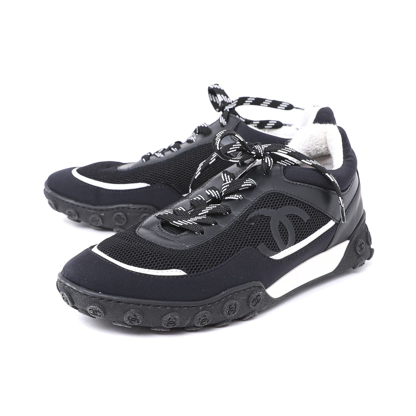 Chanel Bicolor Trainers Sneakers 39