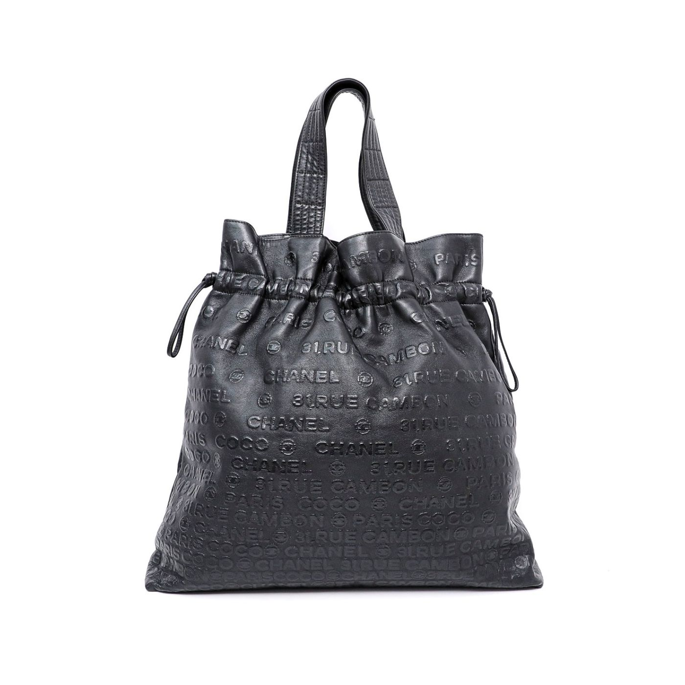 Chanel Black Unlimited Line Drawstring Tote