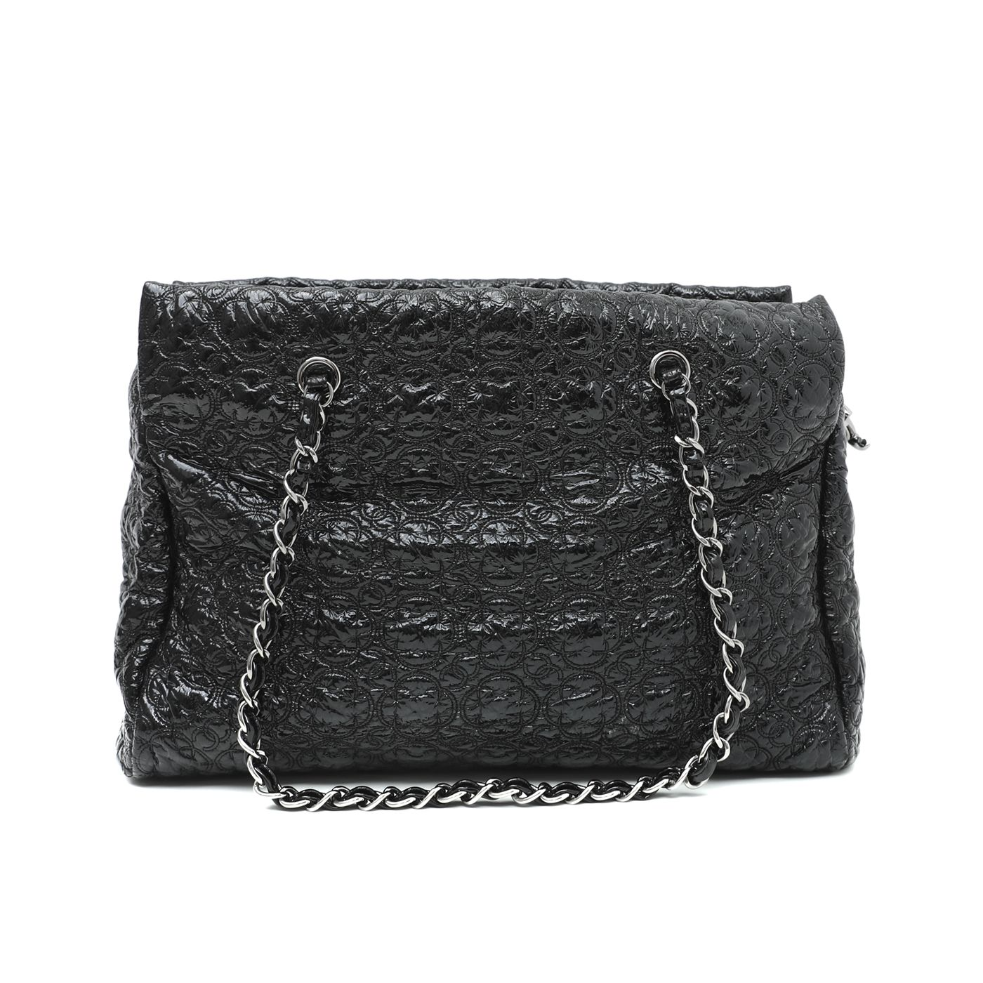 Chanel Black Vinyl Rock In Moscow Tote Bag