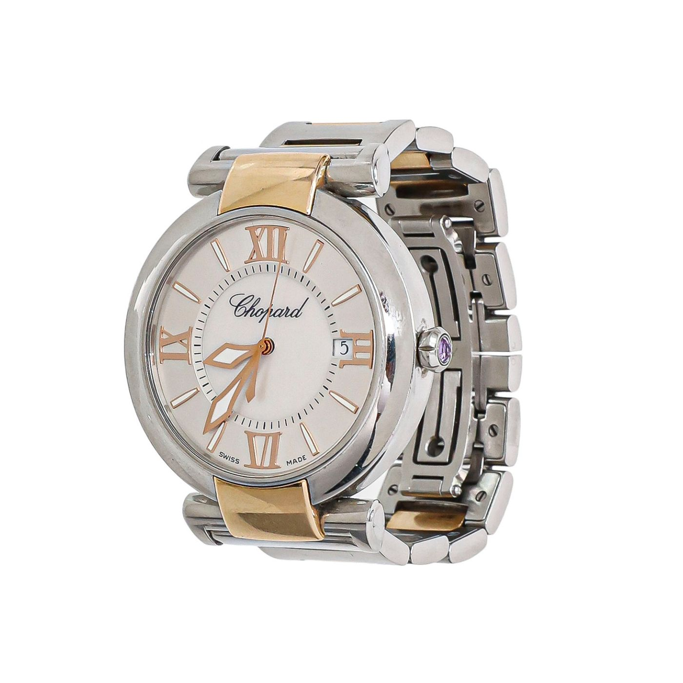 Chopard 18K Rose Gold & Steel Imperiale  40mm