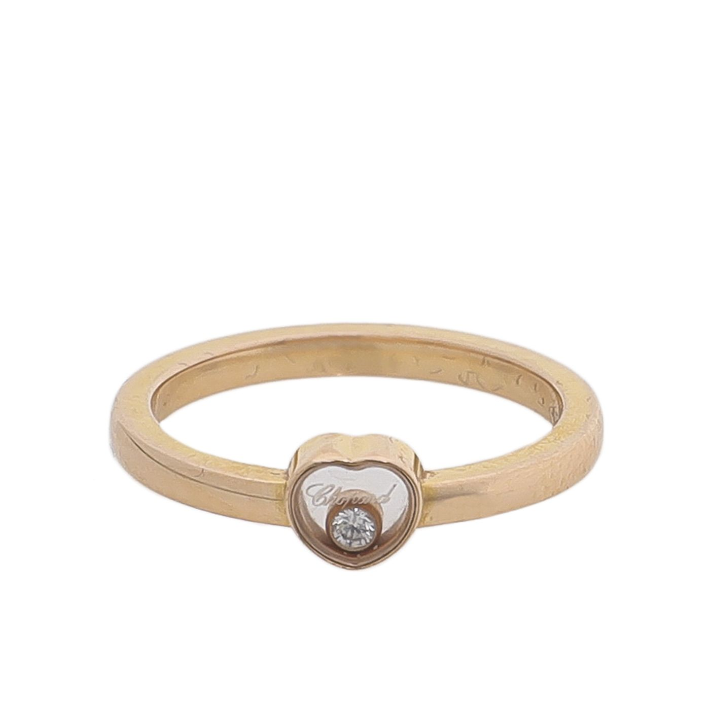 Chopard 18K Rose Gold Diamond Happy Heart Ring