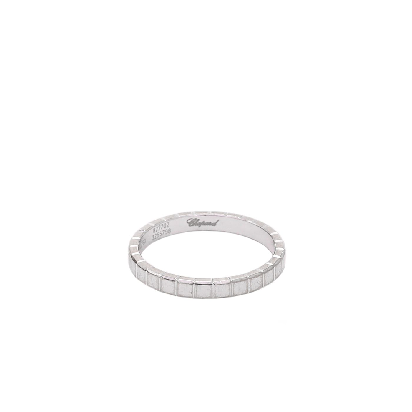 Chopard 18K White Gold Ice Cube Pure Ring 53