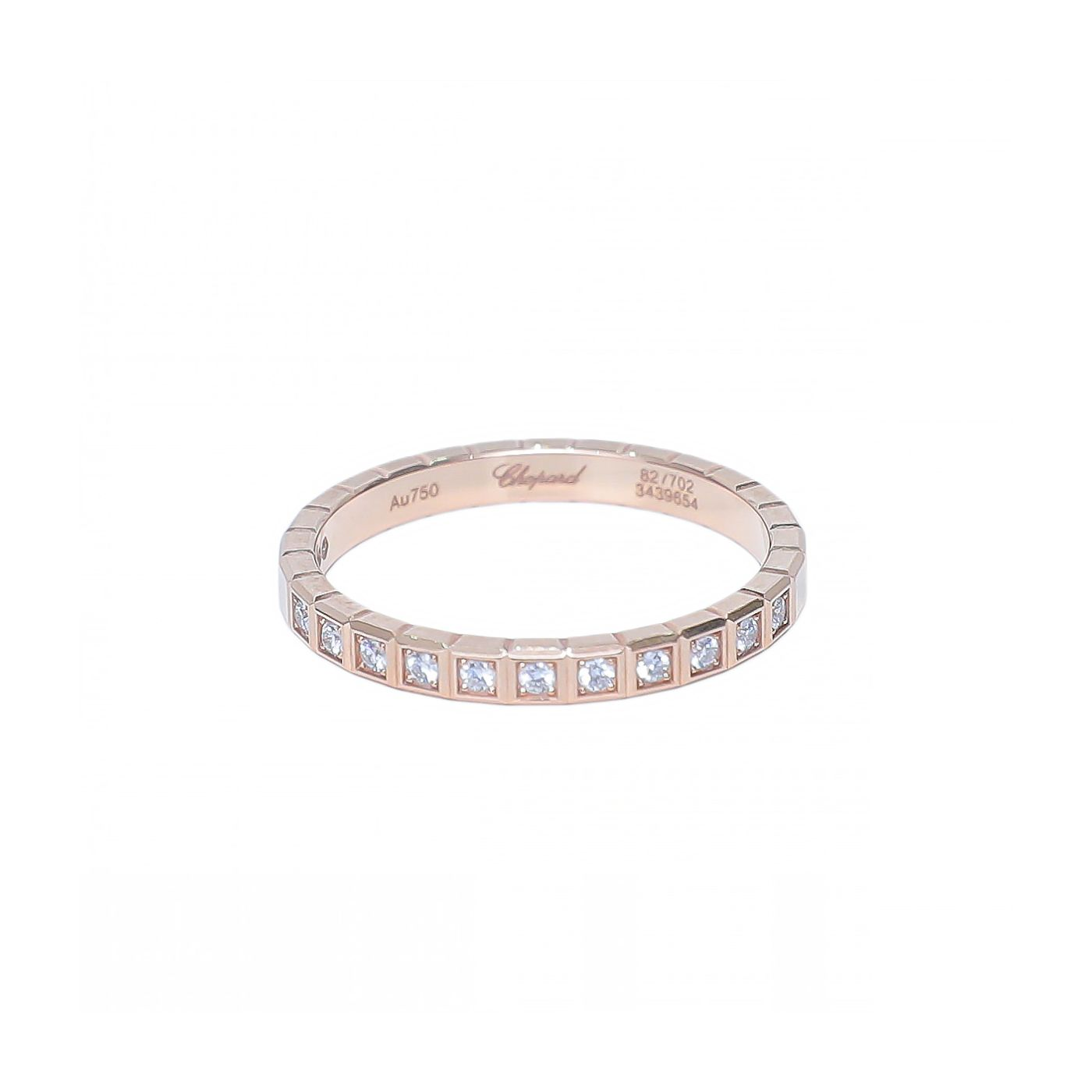 Chopard 18K Pink Gold Ice Cube Diamonds Ring