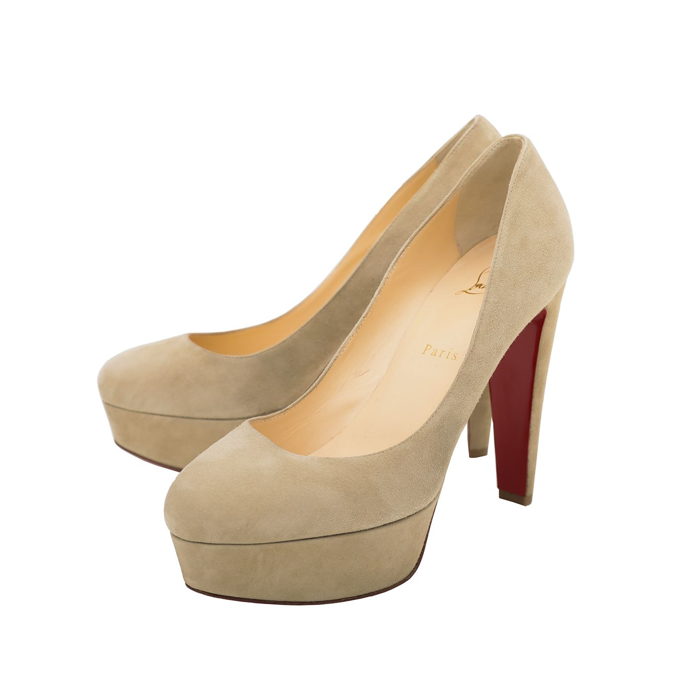 Christian Louboutin Greenish Beige Bibi Pumps 120mm 39.5