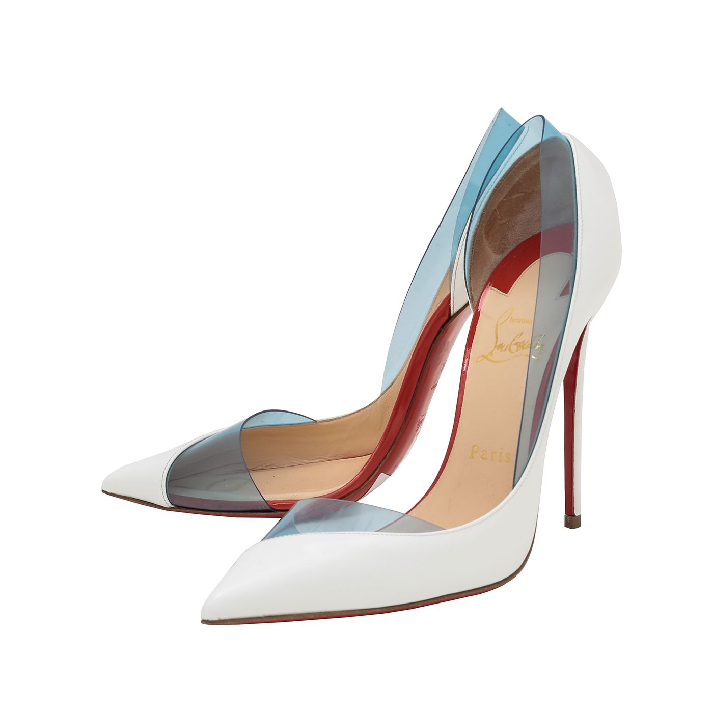 Christian Louboutin White Miss Rigidaine Pumps 38.5