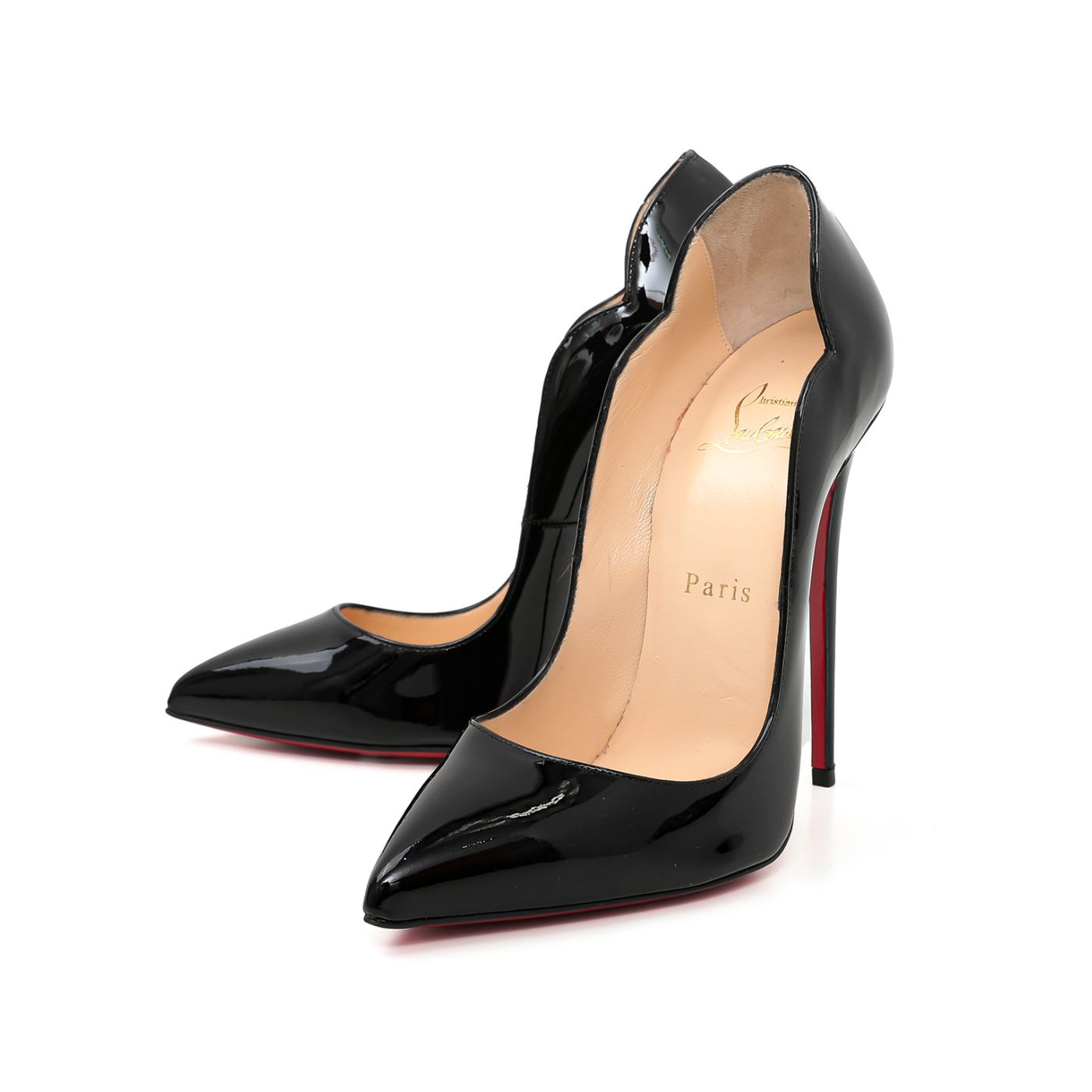 Christian Louboutin Black Hot Chick 130 Pump 37.5