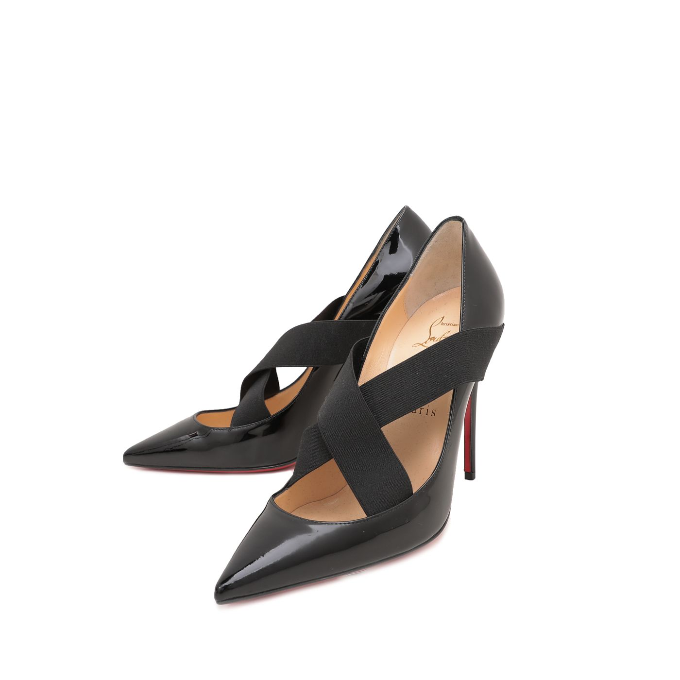 Christian Louboutin Black Sharpstagram Pumps 100mm 37