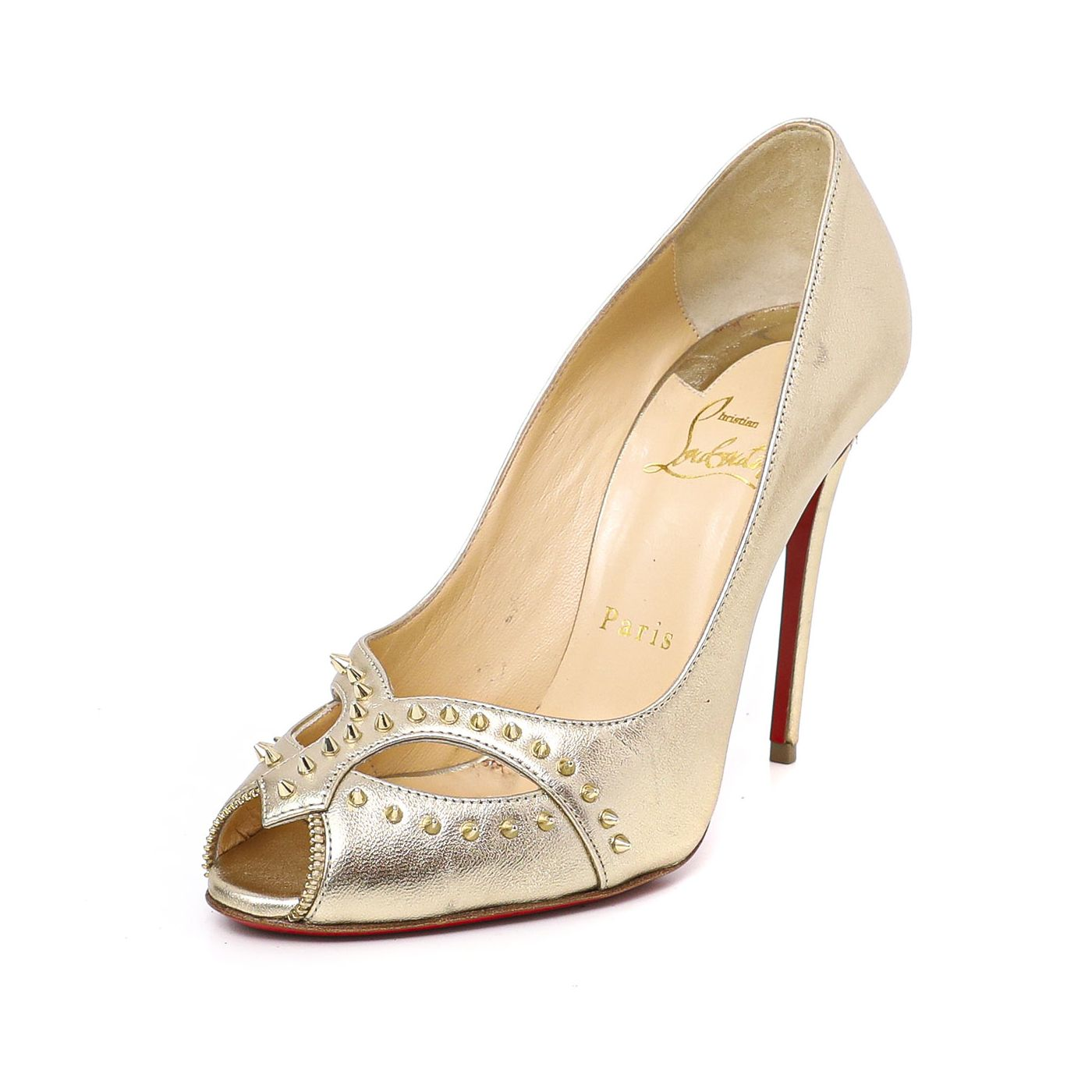 Christian Louboutin Gold Cagouletta Pumps38