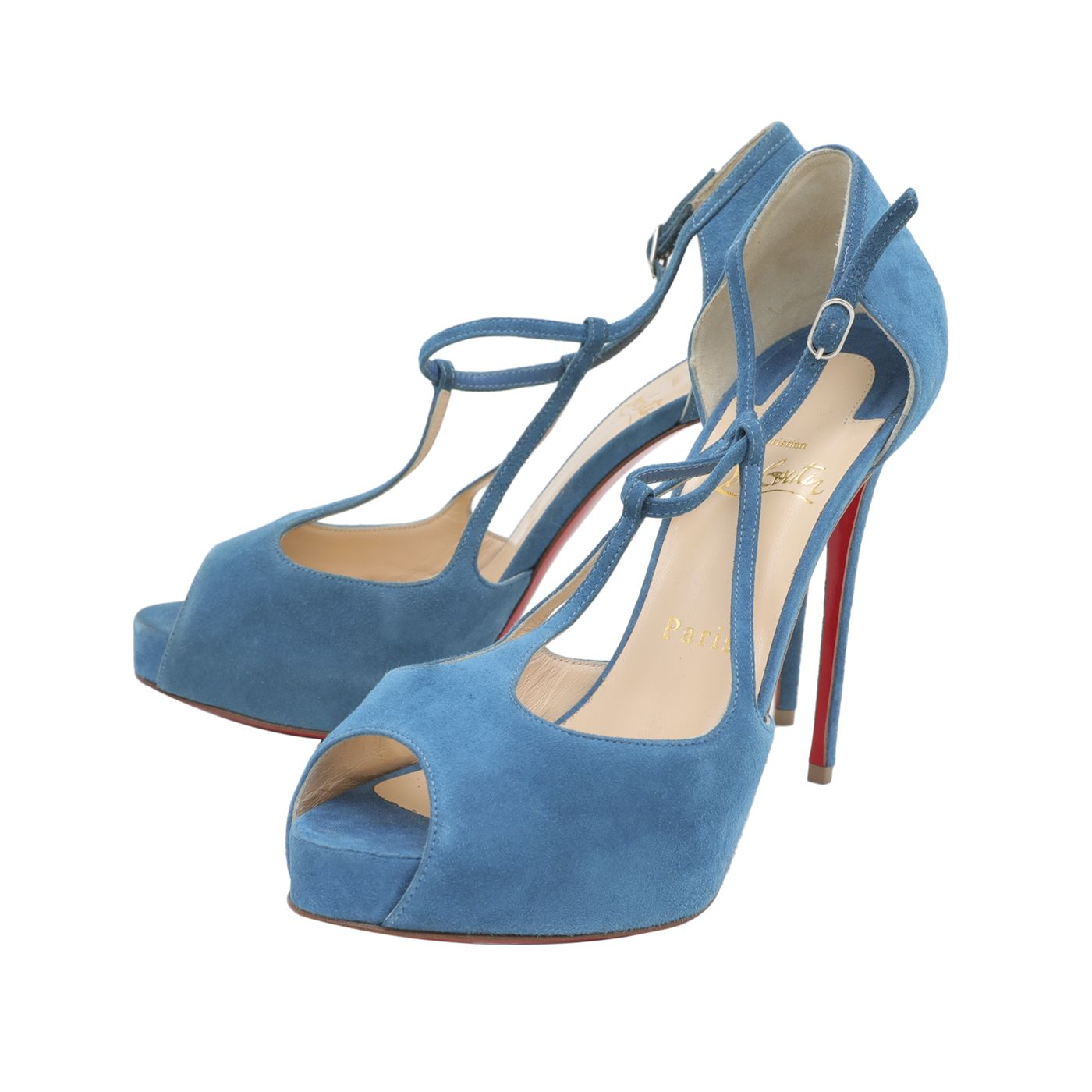 Christian Louboutin Ocean Suede Colibritta 120mm Pumps 37.5