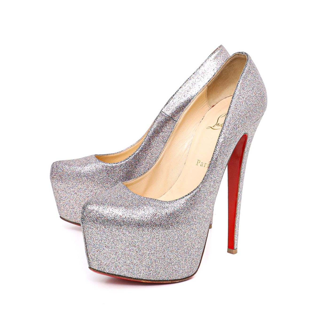 Christian Louboutin Glitter Daffodile 150mm Pumps 38.5