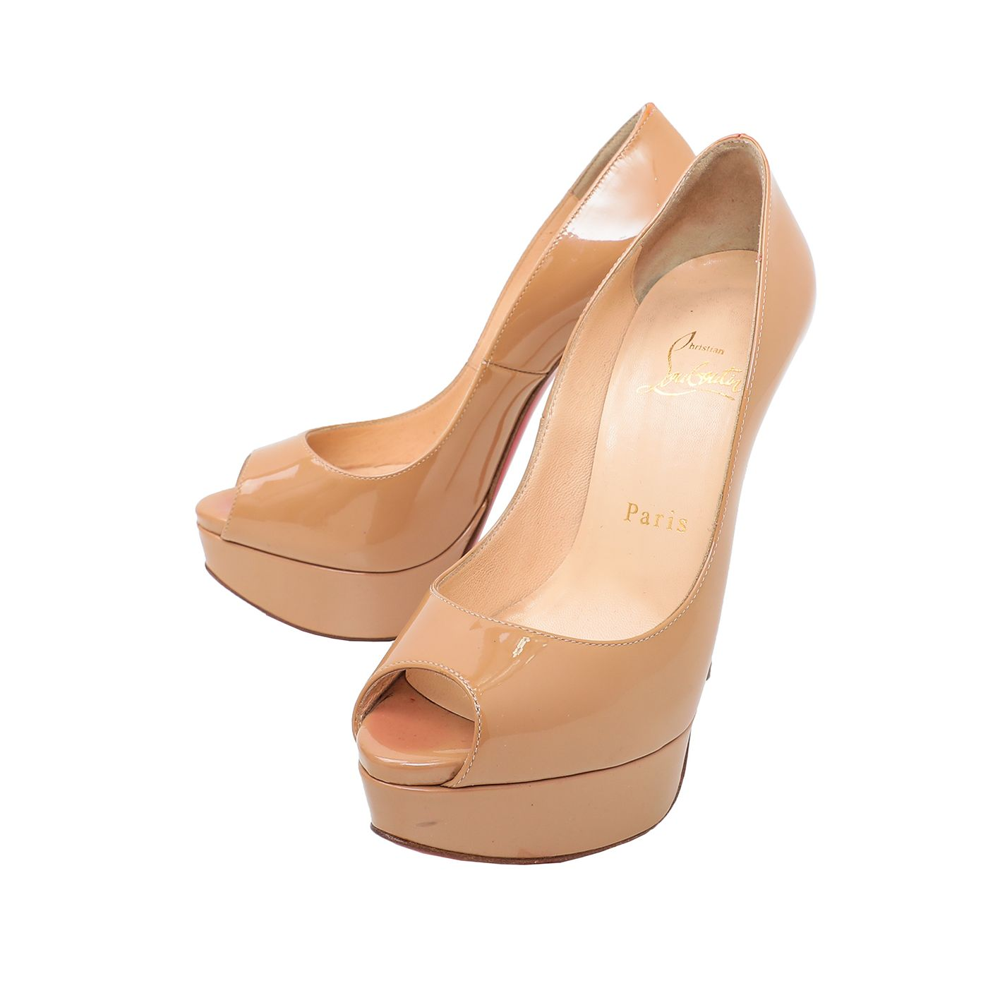 Christian Louboutin Nude Lady Peep 130mm Pumps 35.5