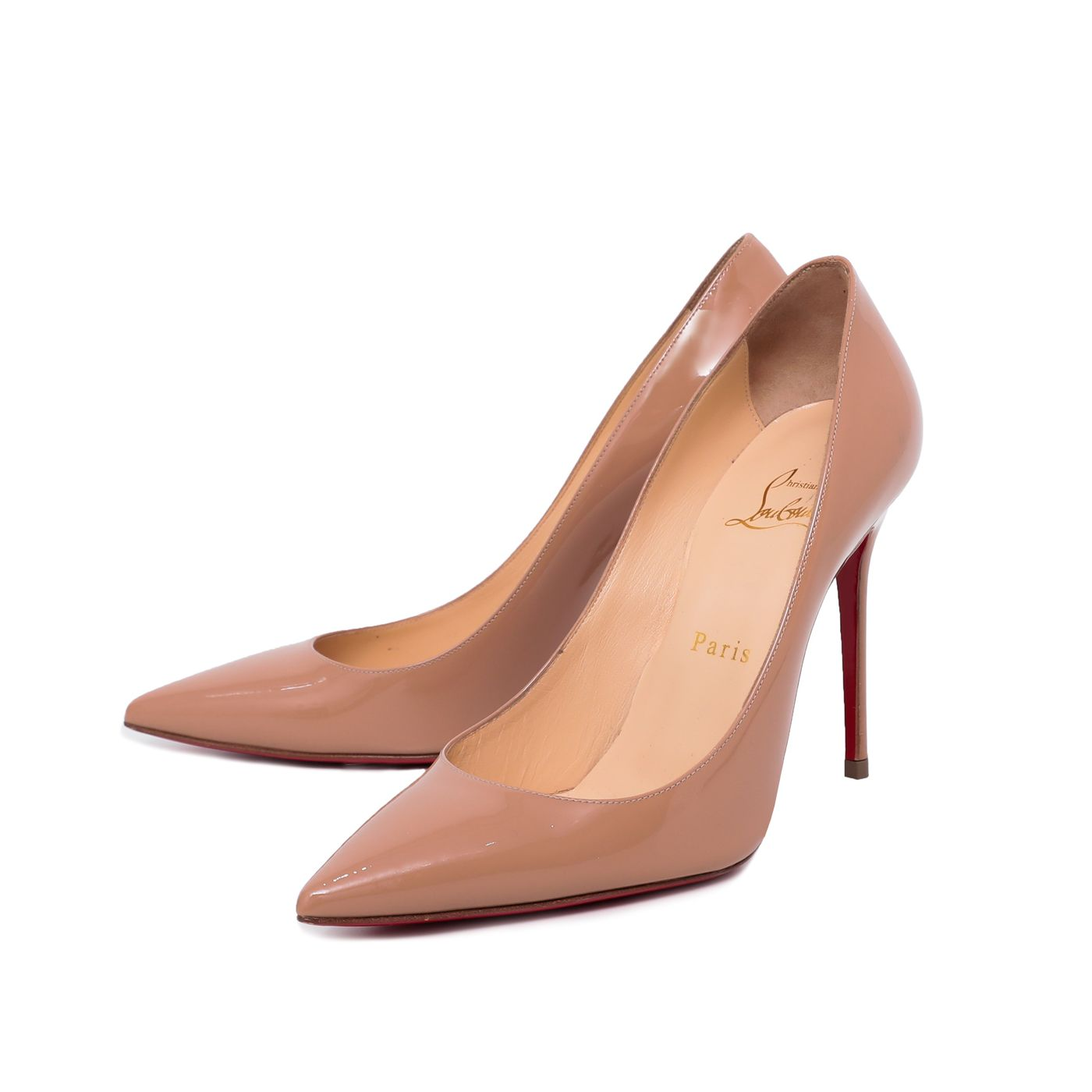 Christian Louboutin Nude Late 100m Pumps 37.5