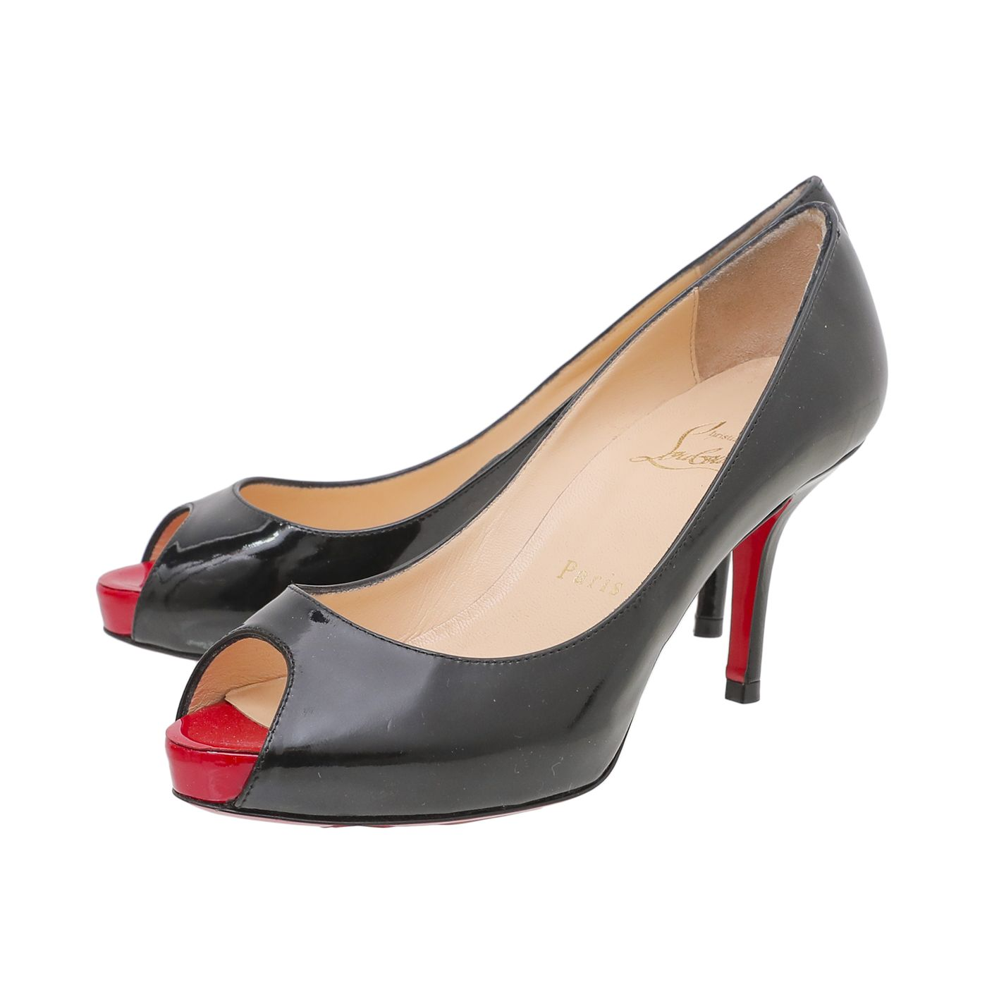 Christian Louboutin Black Mater Claude Pumps 34.5