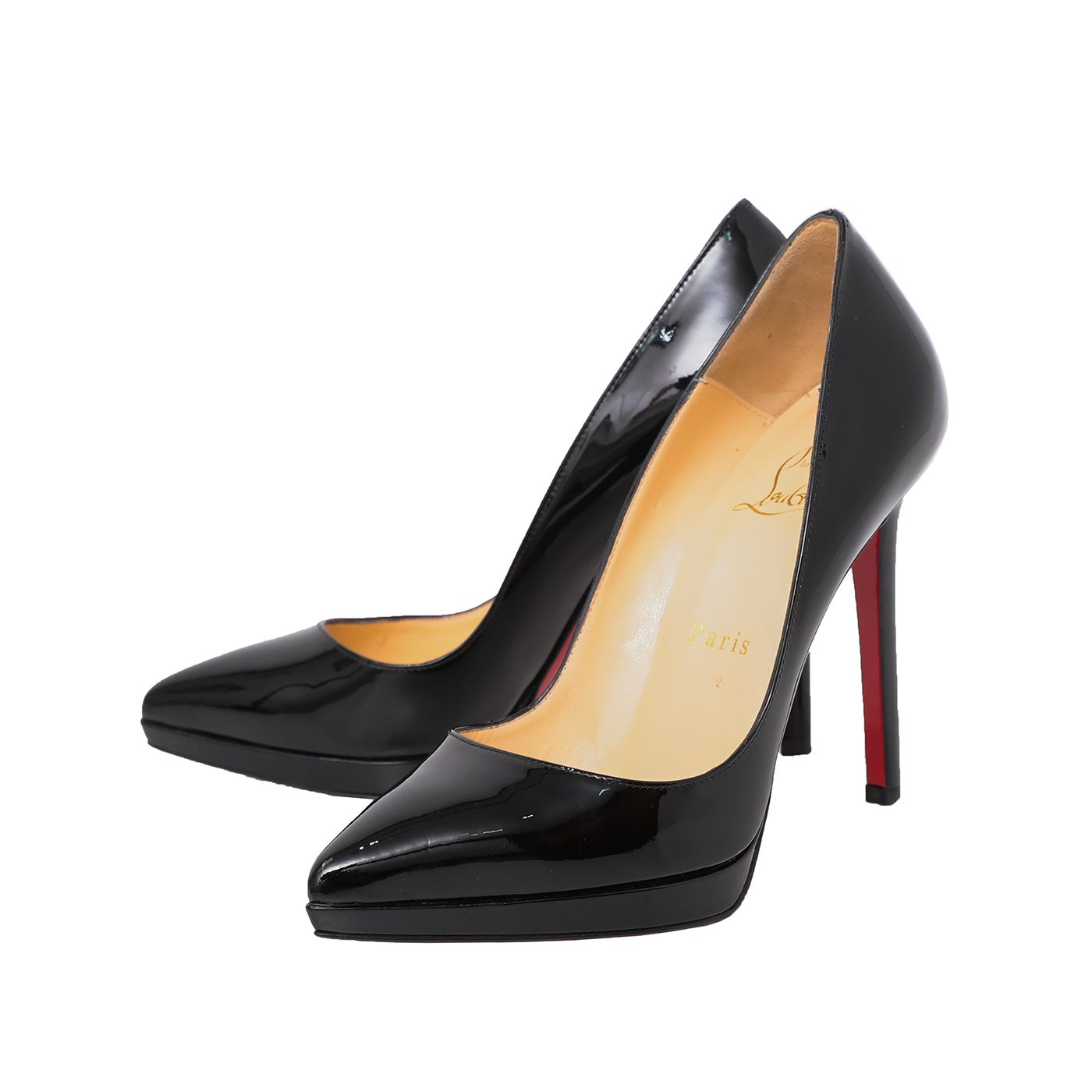 Christian Louboutin Black Pigalle Plato 120 Calf Pumps 36.5
