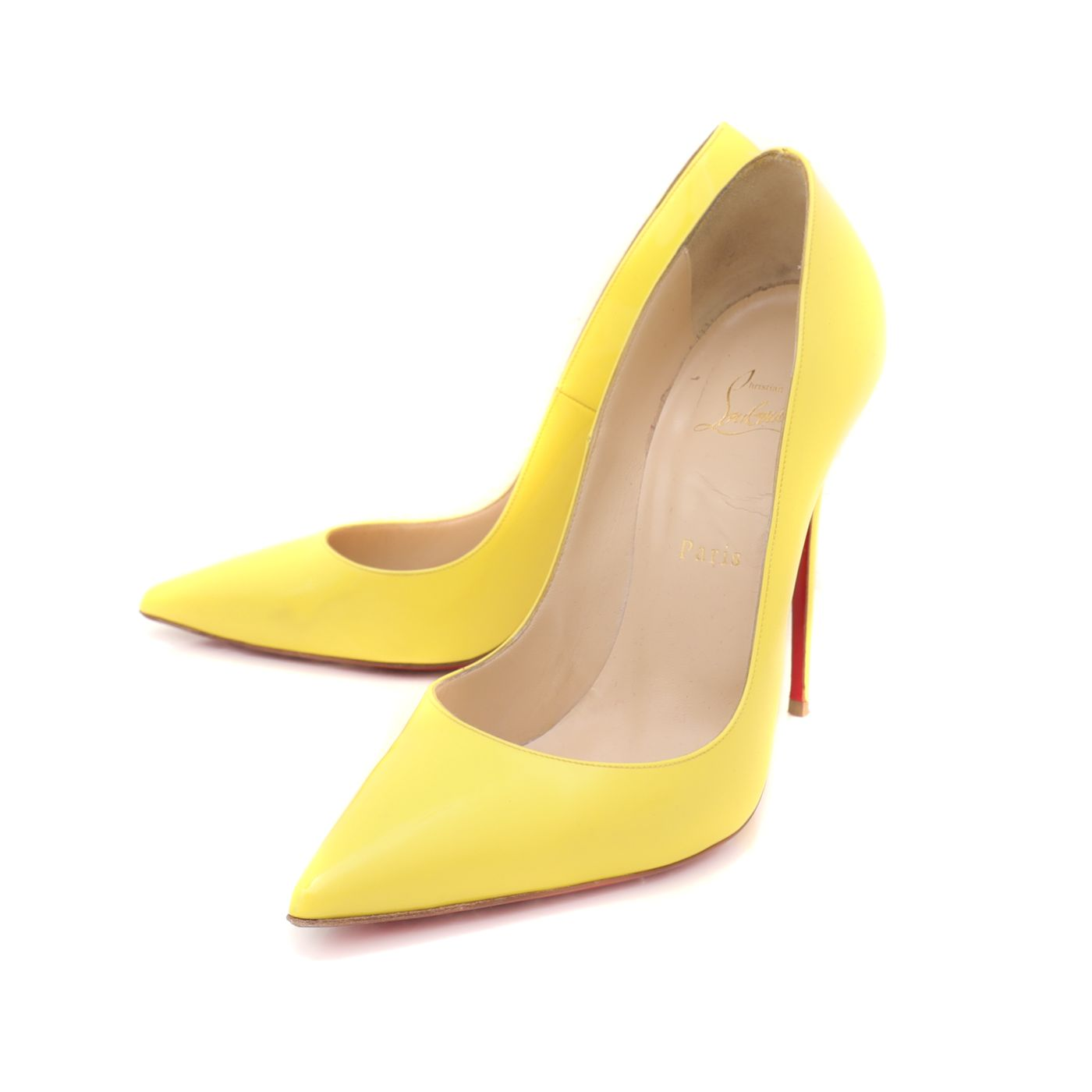 Christian Louboutin Yellow So Kate Pumps 41
