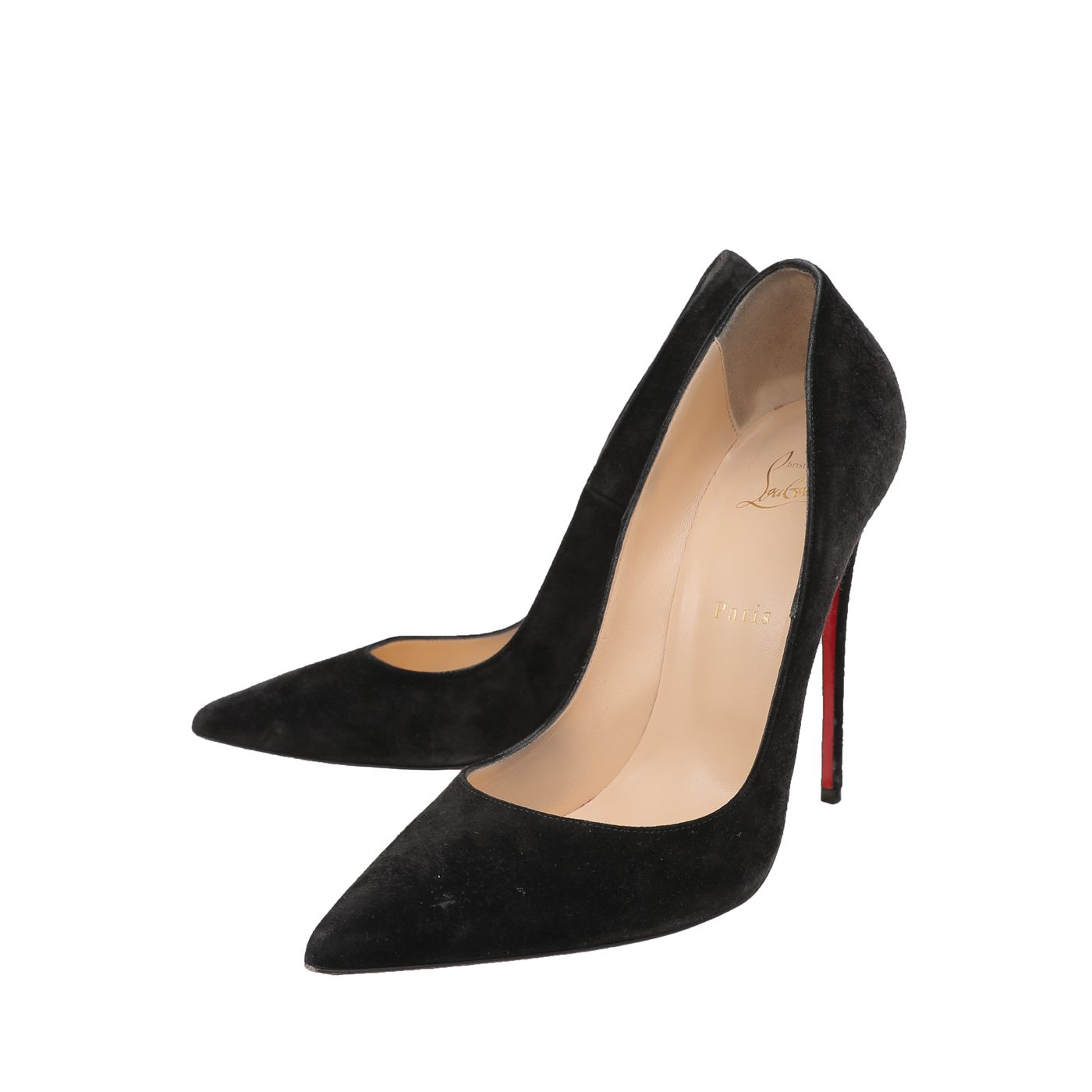 Christian Louboutin Black Suede So Kate 120mm Pumps 41.5