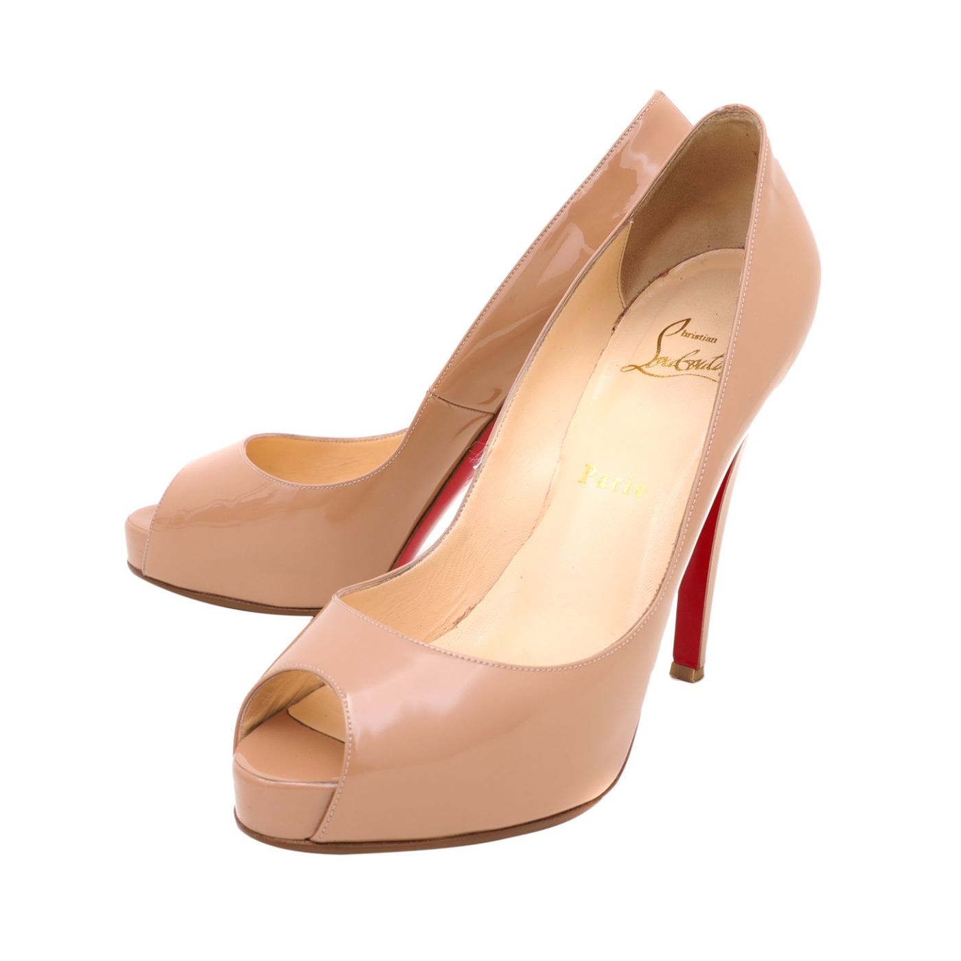 Christian Louboutin Nude Very Prive 120 Pumps 38.5