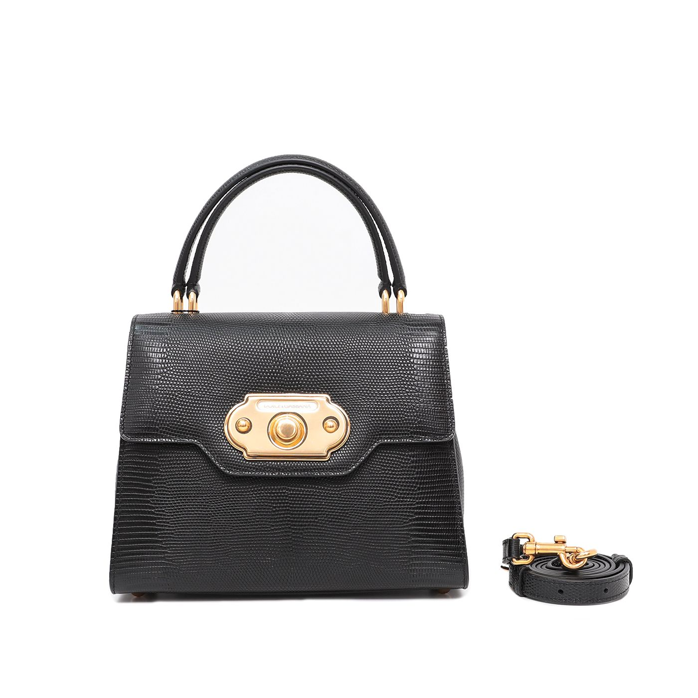 Dolce & Gabbana Black Welcome Top Handle Small