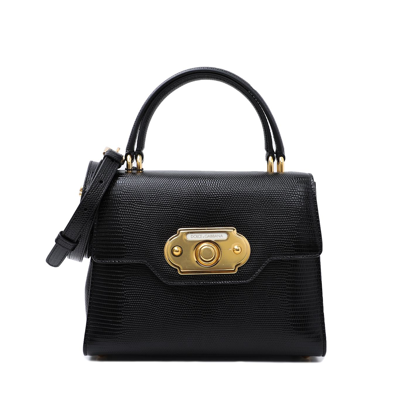 Dolce & Gabbana Black Welcome Top Handle Bag