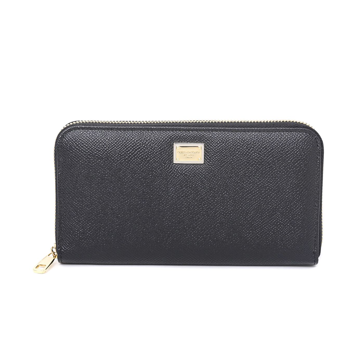Dolce & Gabbana Black Zip Around Wallet