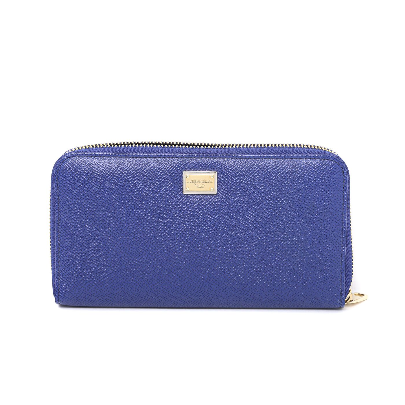 Dolce & Gabbana Electric Blue Zip Around Wallet