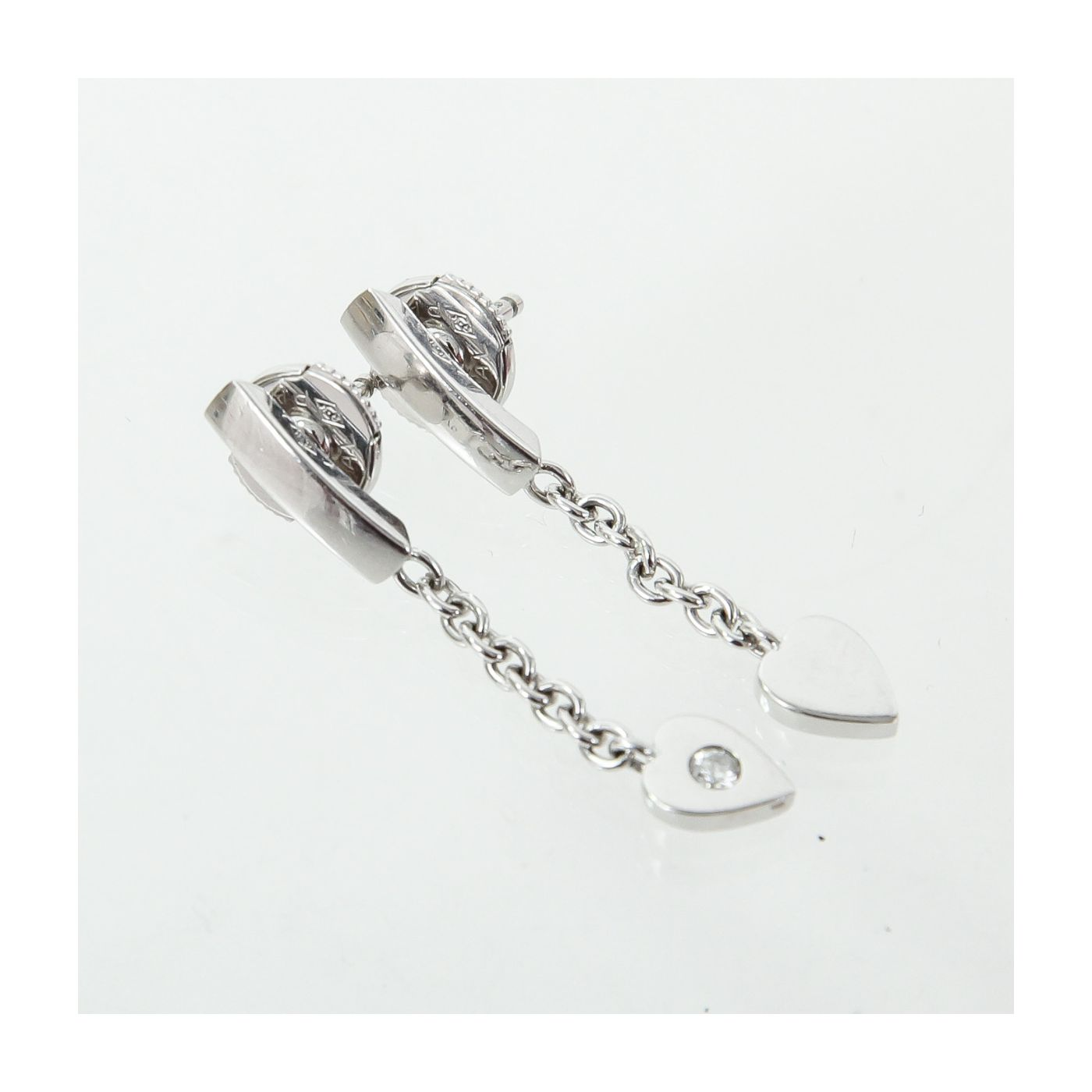 Cartier 18k White Gold with Diamonds Mon Amour Heart Earrings