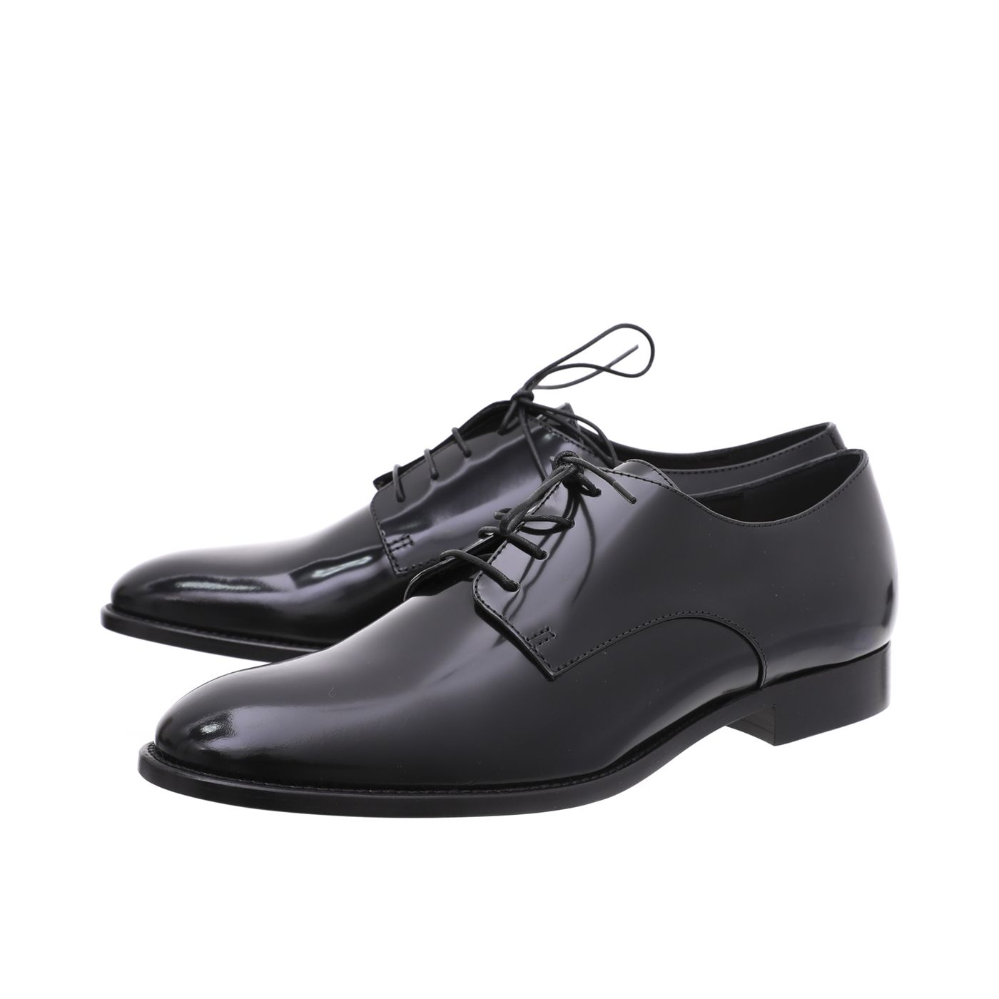 Christian Dior Black Shiny Derby Shoe 38