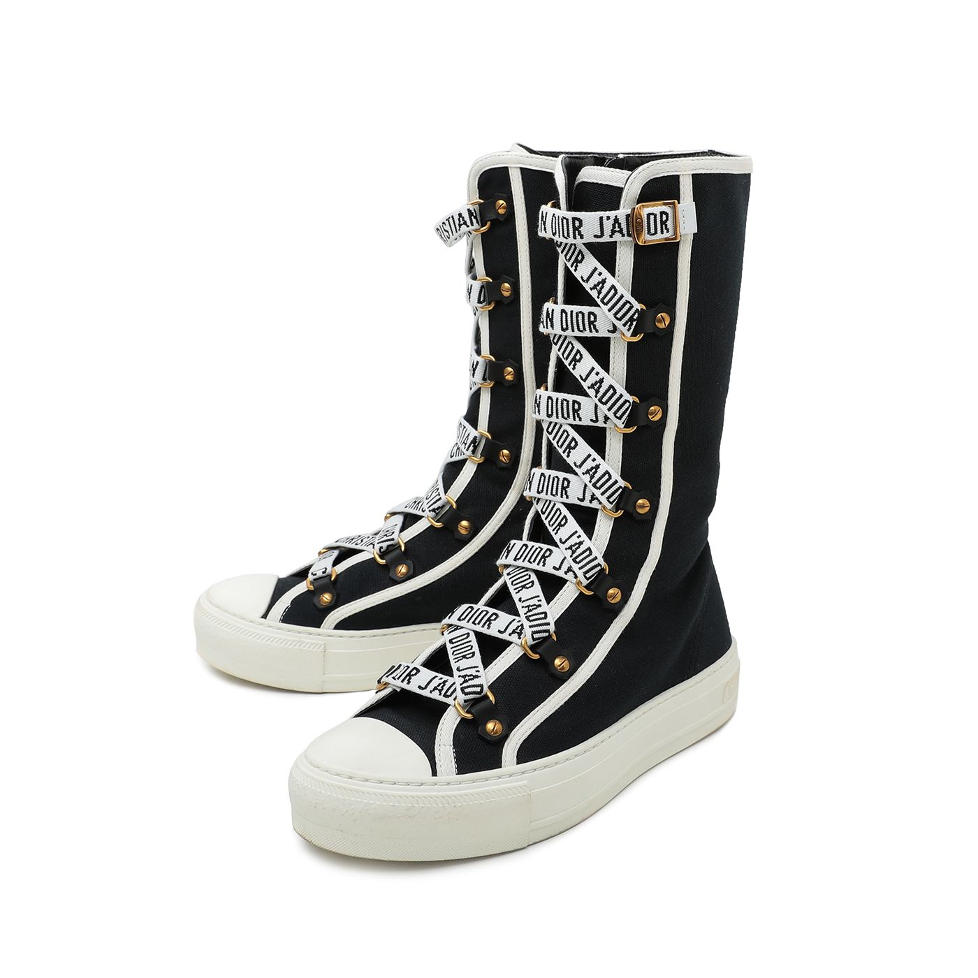 Christian Dior Navy Blue Walk'n Dior Sneakers Boot 36