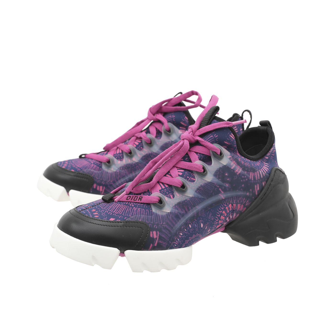 Christian Dior Tricolor D-Connect Fireworks Print Sneakers 37