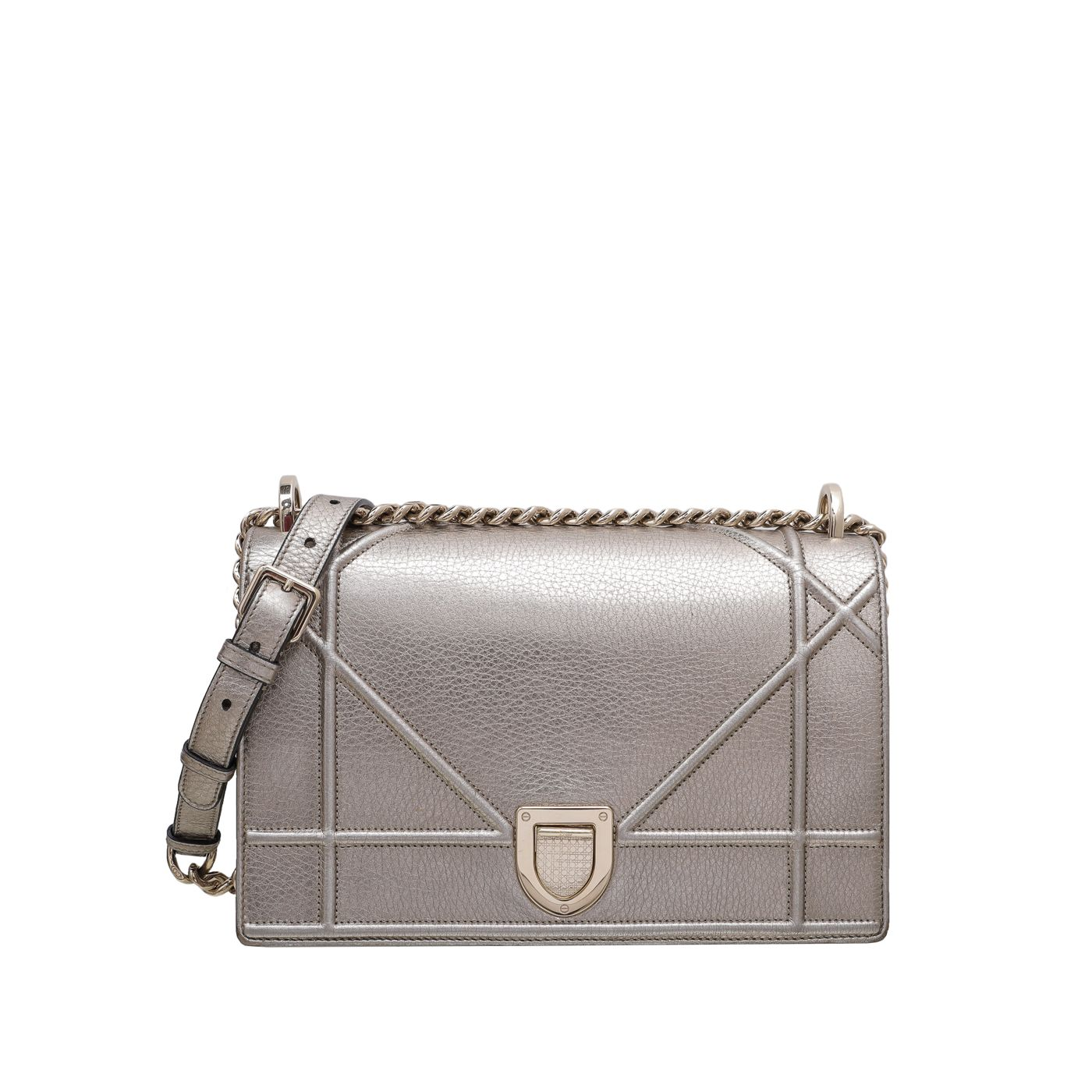 Christian Dior Champagne Diorama Medium Bag