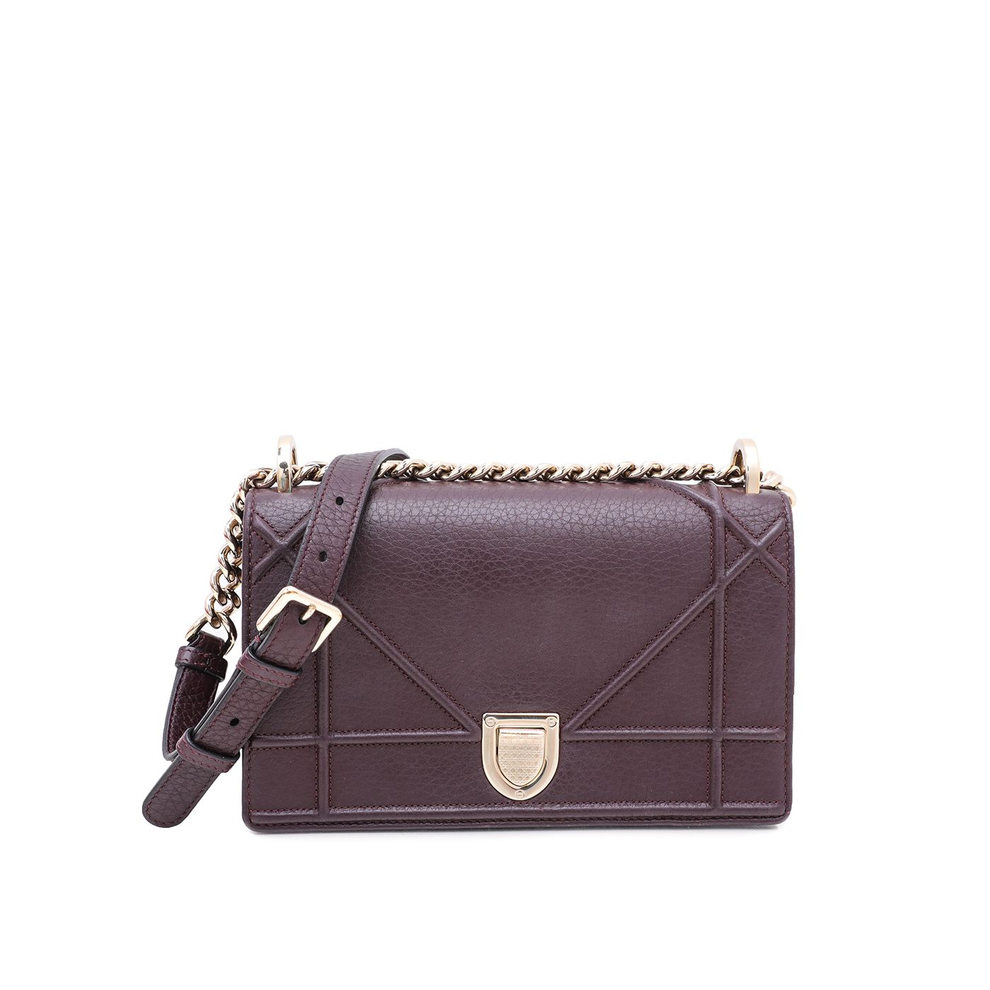 Christian Dior Burgundy Diorama Small Bag