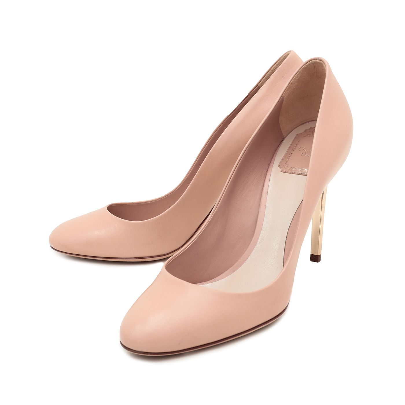 Christian Dior Nude Gold Heel Pumps 42