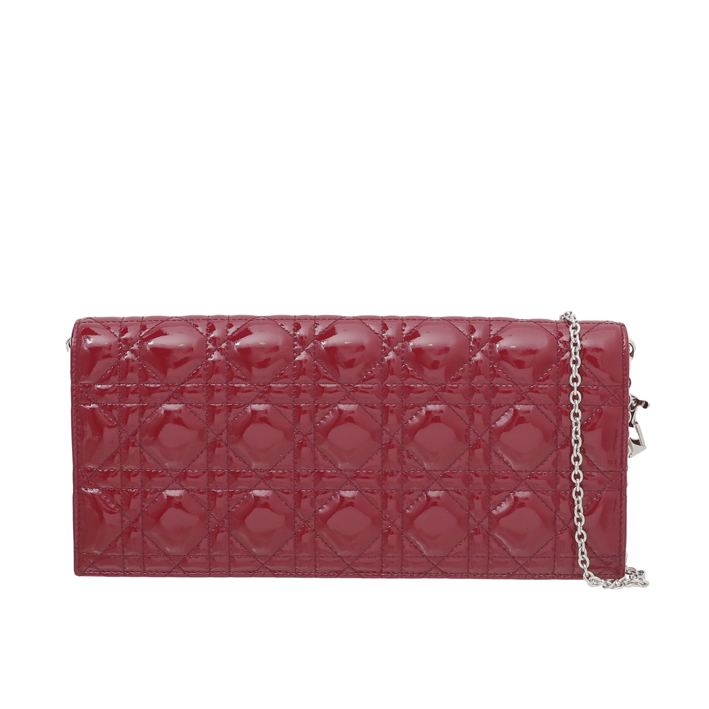 Christian Dior Red Lady Dior Convertible Clutch