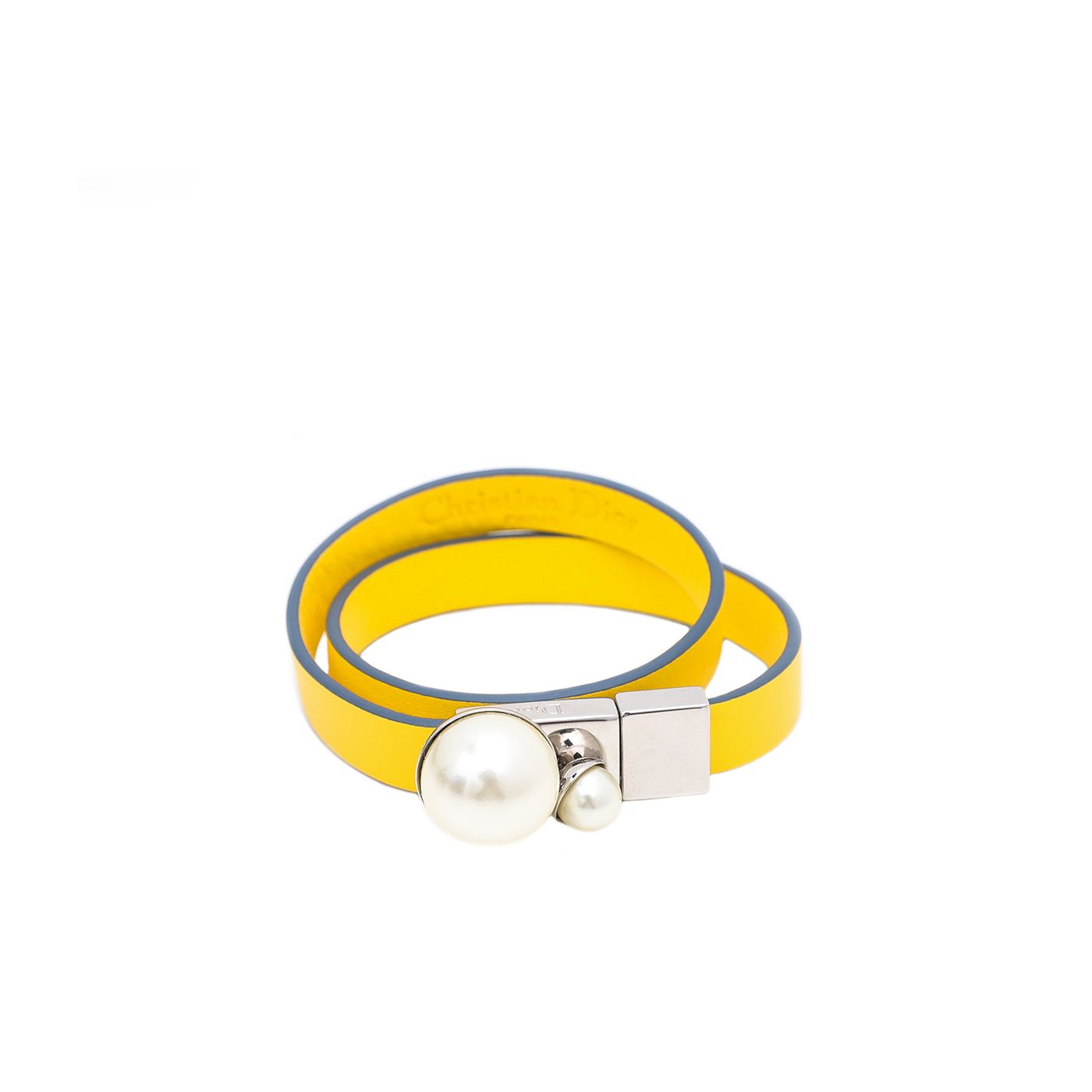 Christian Dior Yellow with Pearl Small Bracelet