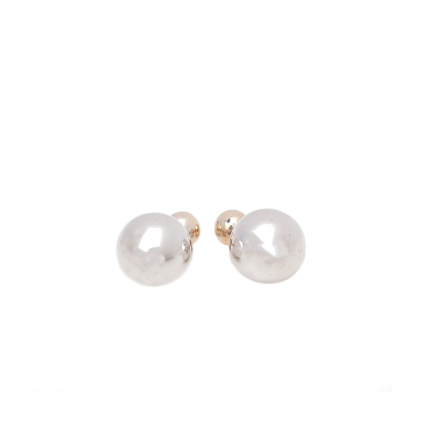Christian Dior Silver Gold Mise En Dior Tribales Earrings