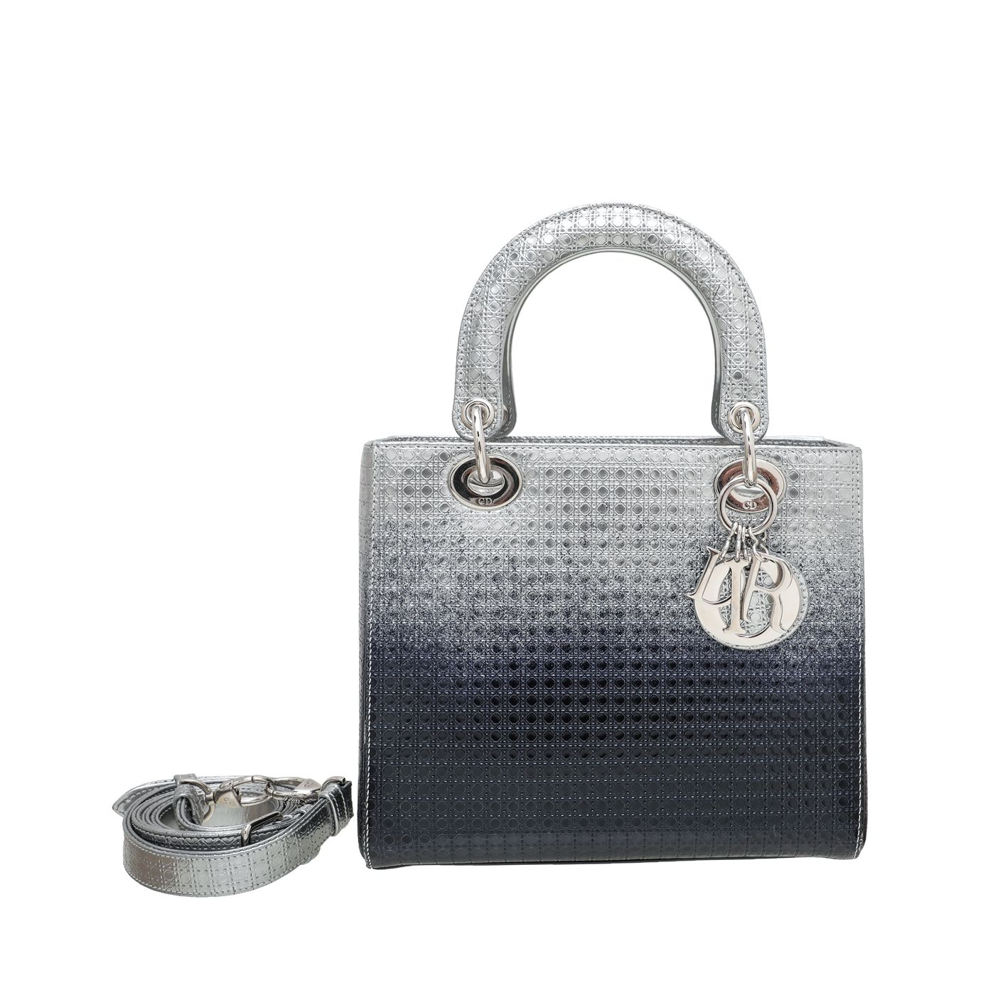 Christian Dior Bicolor Ombre Micro Cannage Lady Dior Bag