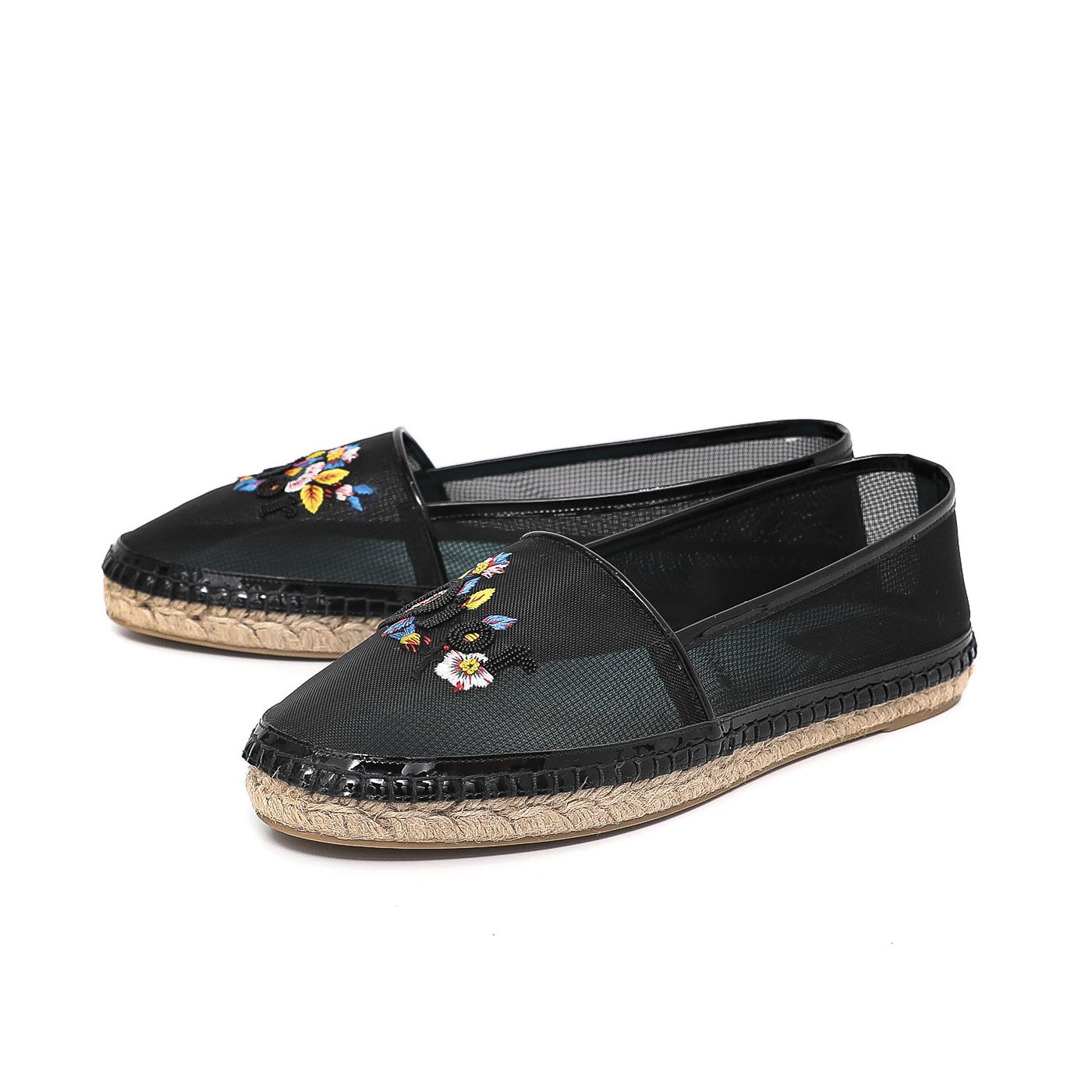 Christian Dior Black Riviera Embroidered Espadrille 42