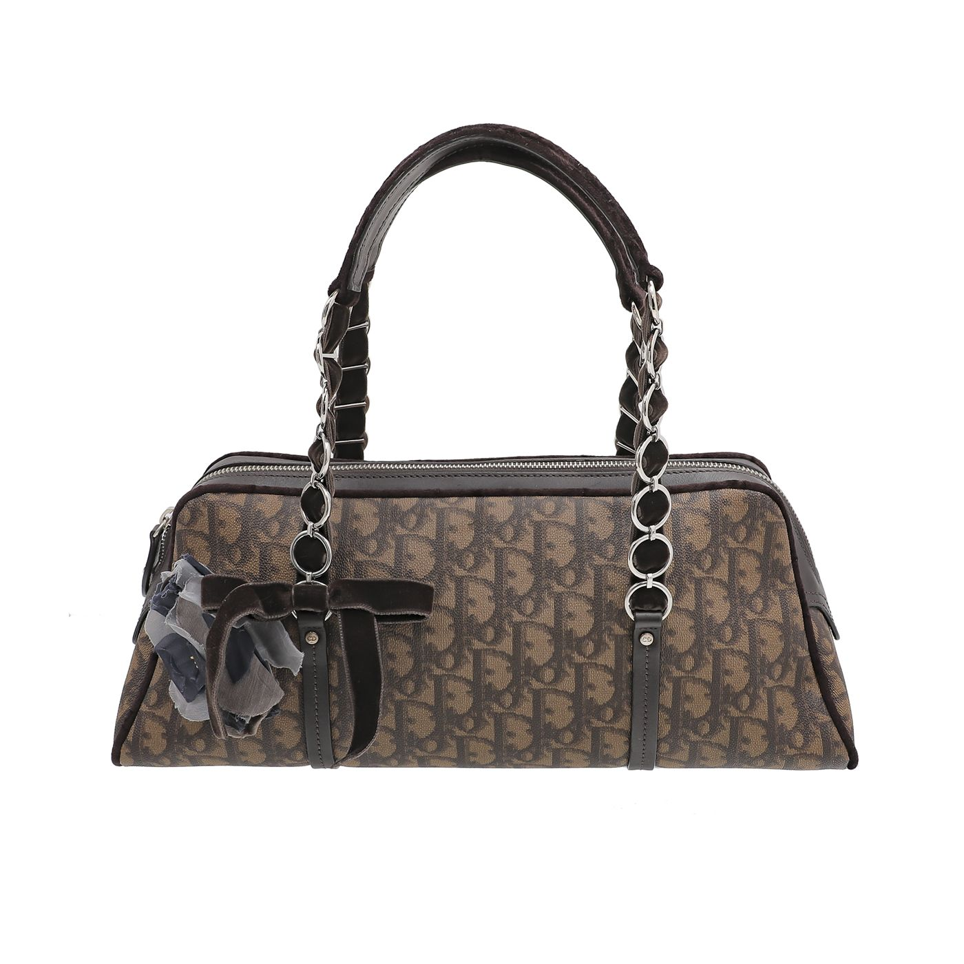 Christian Dior Brown Romantique Trotter Tote Bag