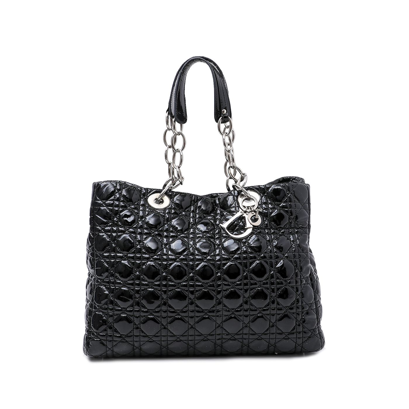 Christian Dior Black Soft Tote Cannage Bag