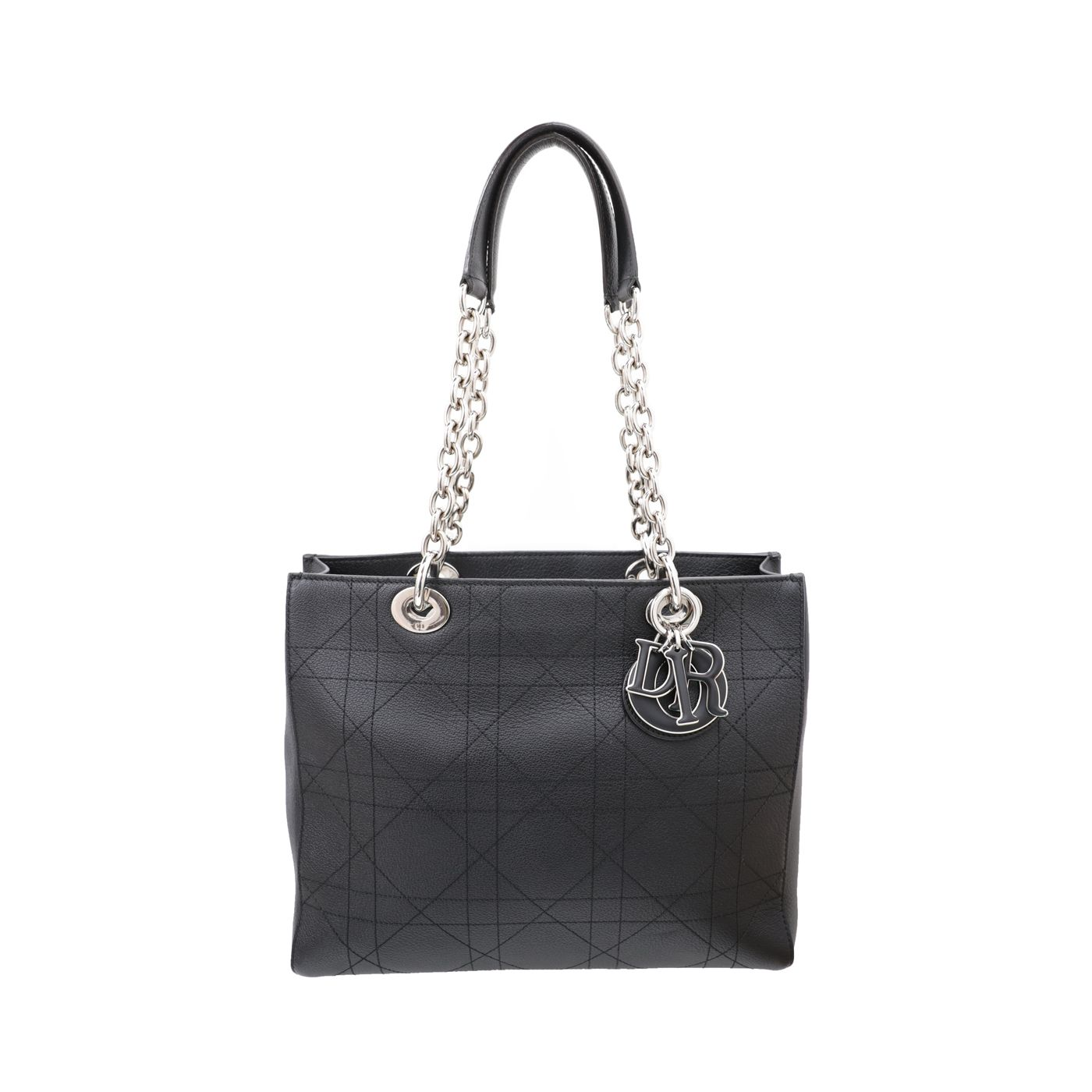 Christian Dior Black Ultra Dior Matte Medium Tote Bag