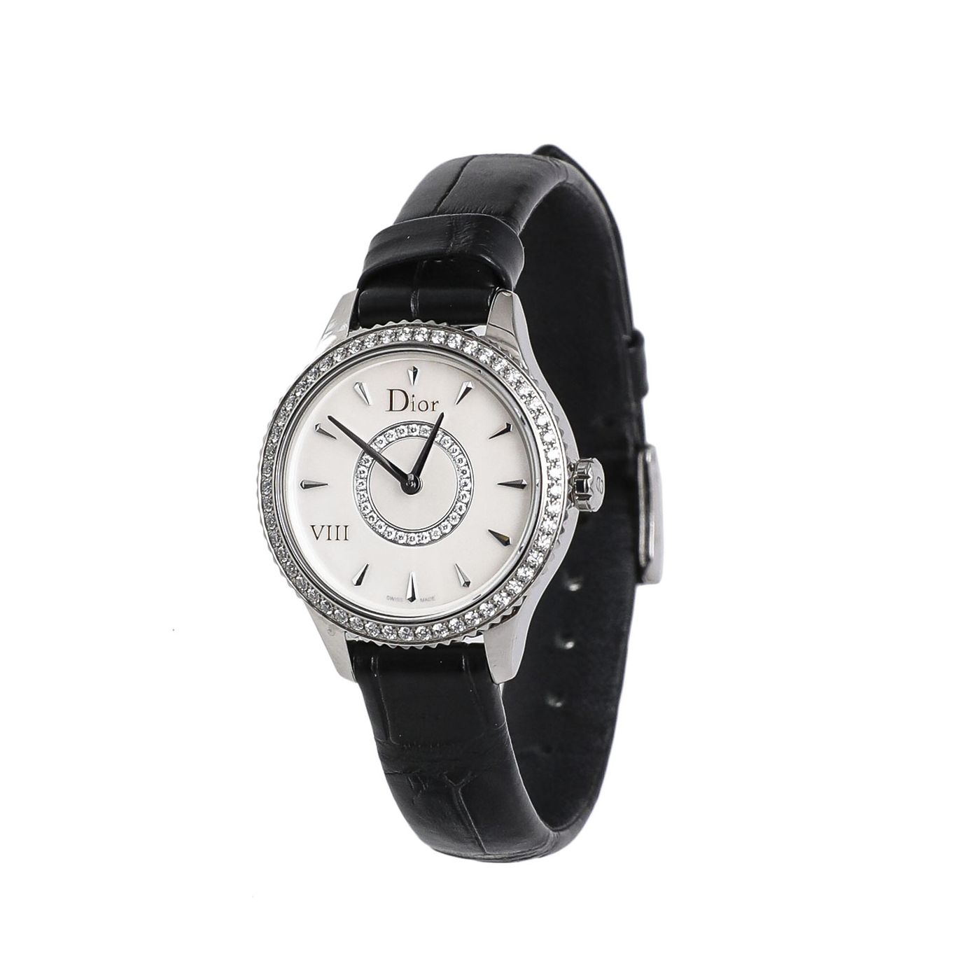 Christian Dior Mother of Pearl/ Diamonds VIII Montaigne 25mm Watch