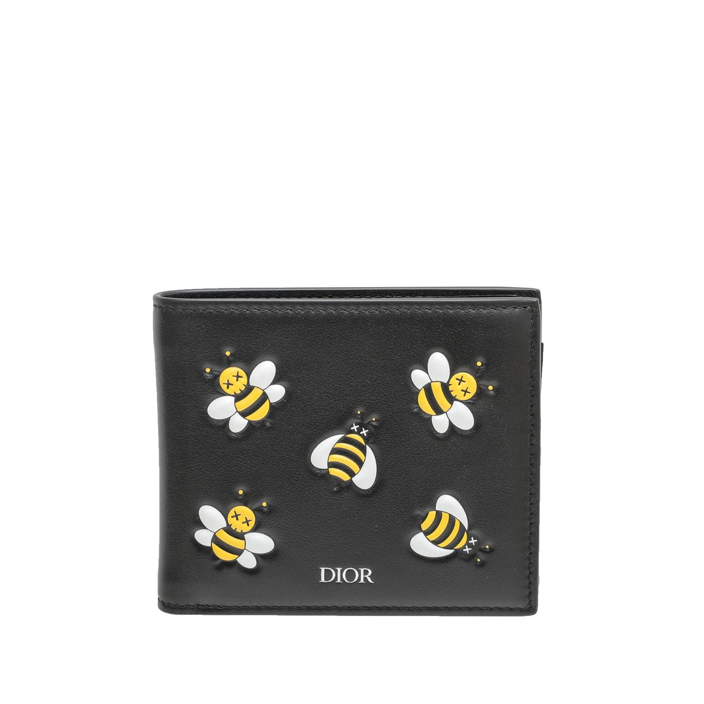 Christian Dior Tricolor X Kaws Bee Embossed Men Wallet