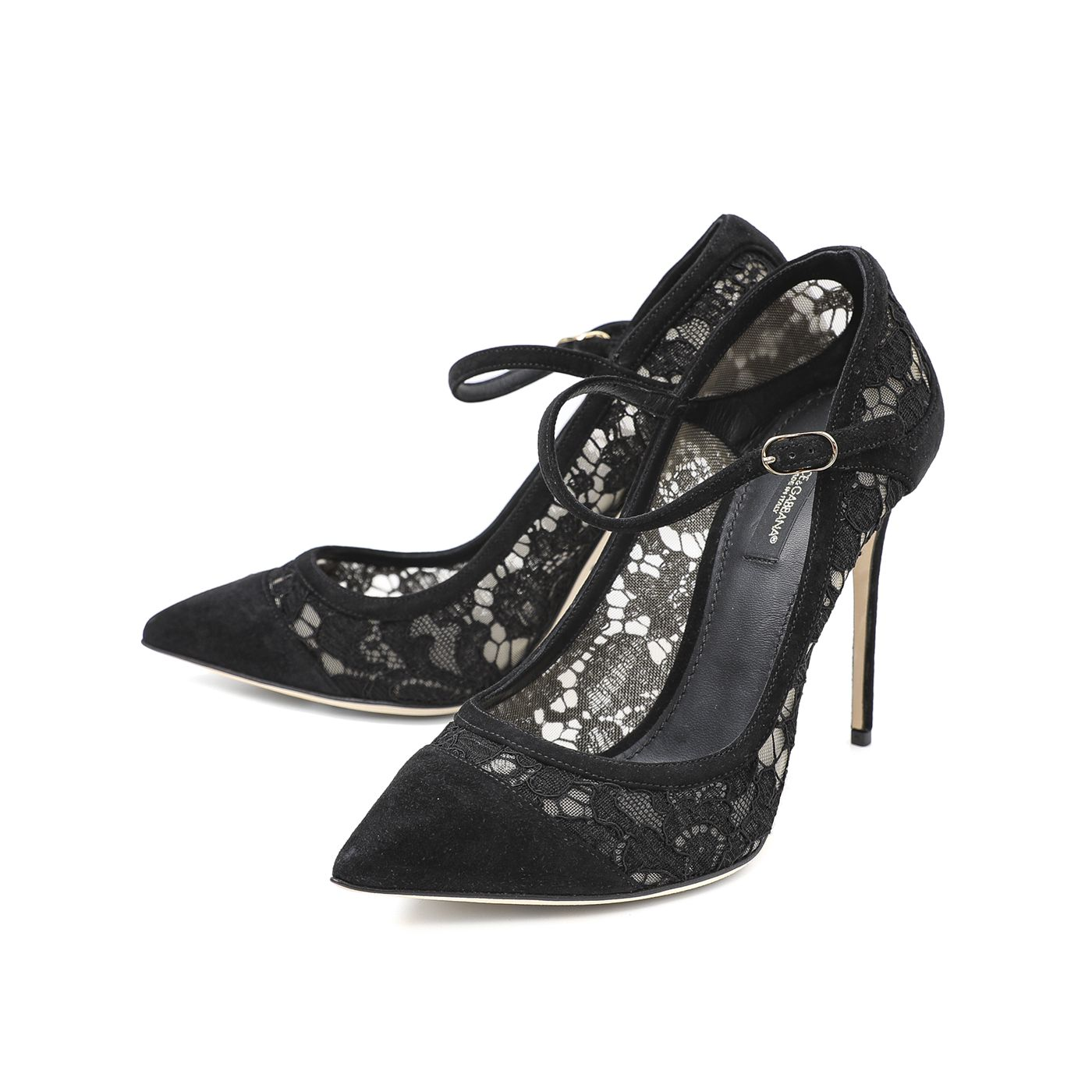 Dolce & Gabbana Black Bellucci Mary Jane Pumps 38