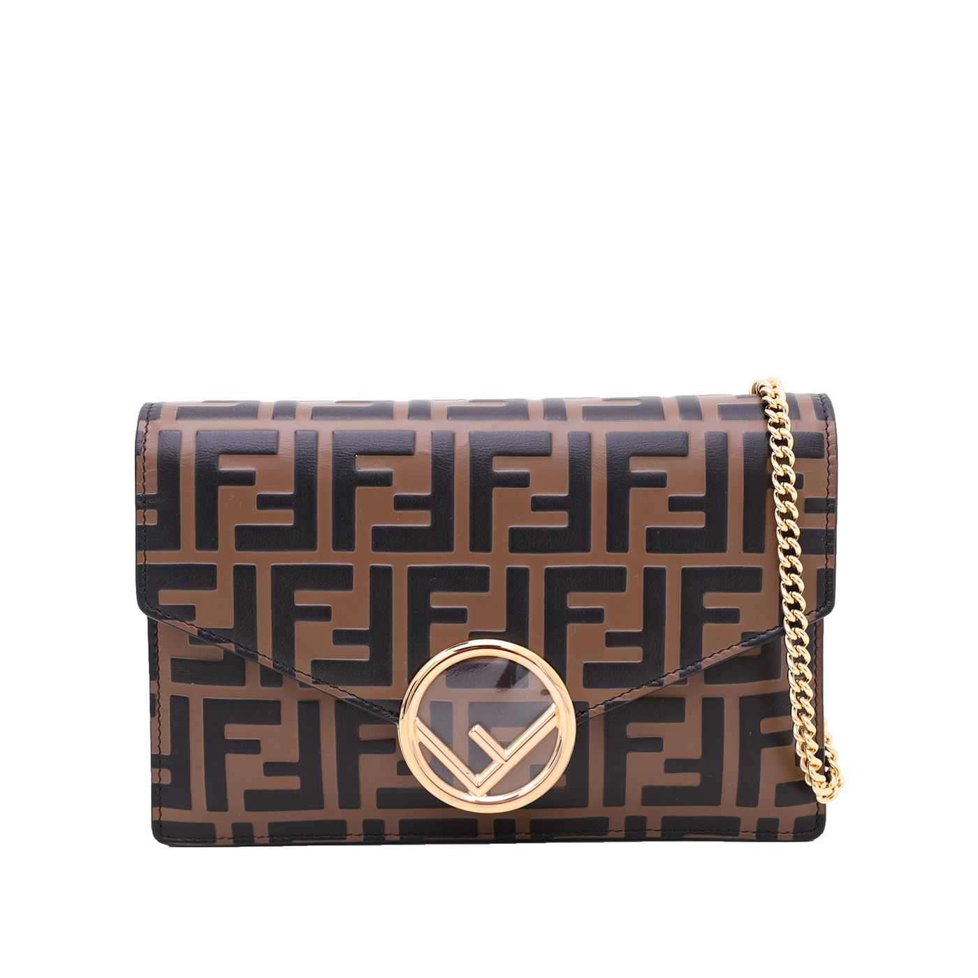 Fendi Tobacco FF Wallet On Chain