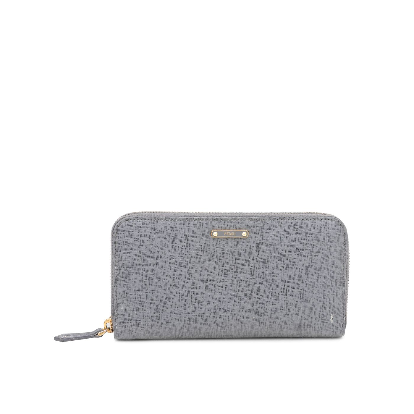 Fendi Gray Crayons Zip Around Wallet