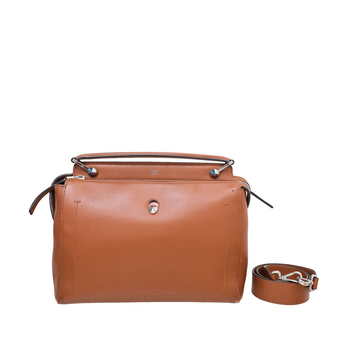Fendi Tan Dotcom Top Handle Bag