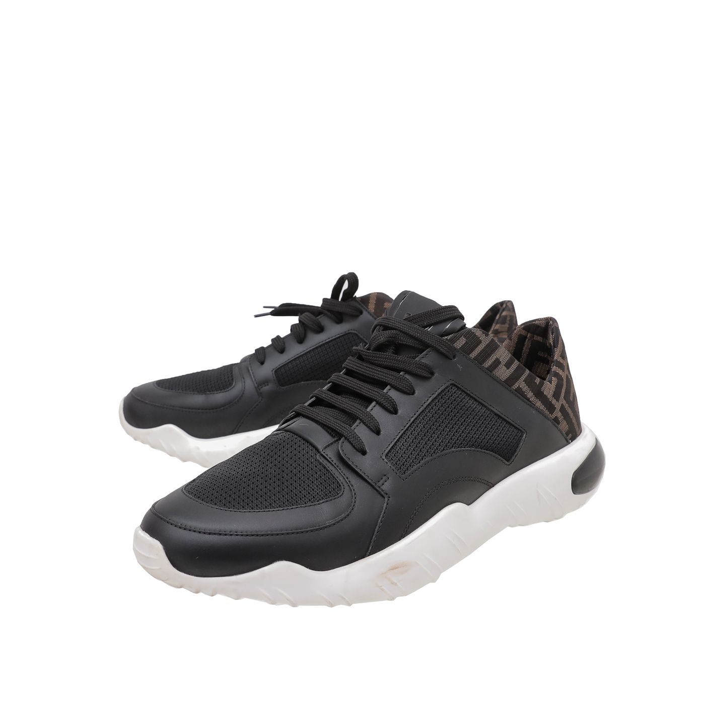 Fendi Bicolor FF Lace Up Running Sneakers 44