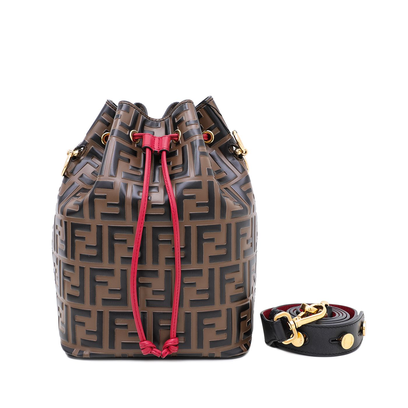 Fendi Tricolor Mon Tresor Bucket Bag