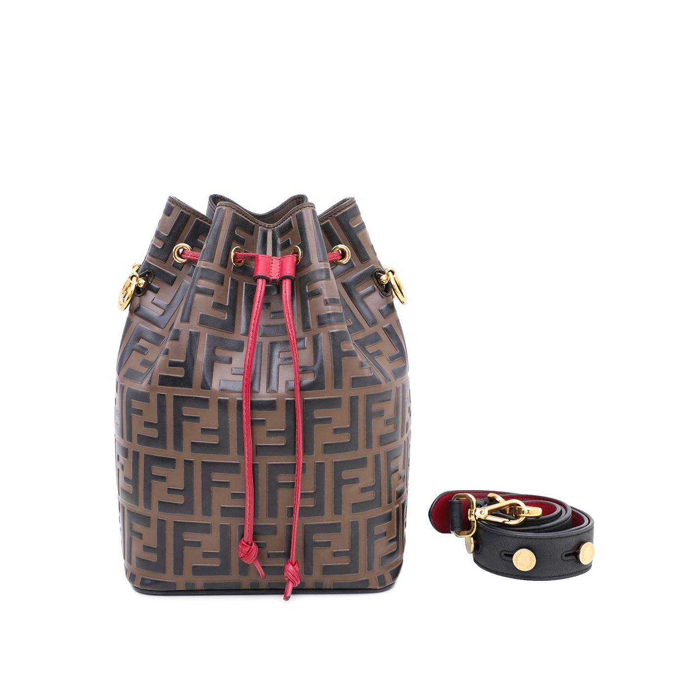 Fendi Bicolor Mon Tresor Bucket Bag