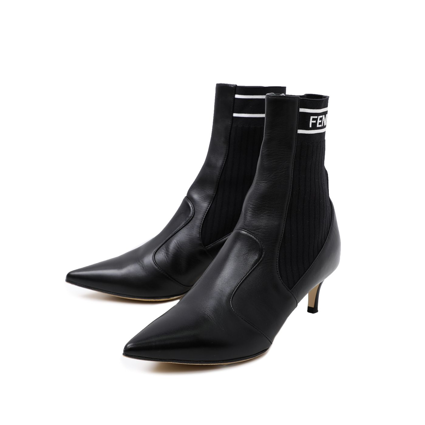 Fendi Black Rockoko Ankle Boot